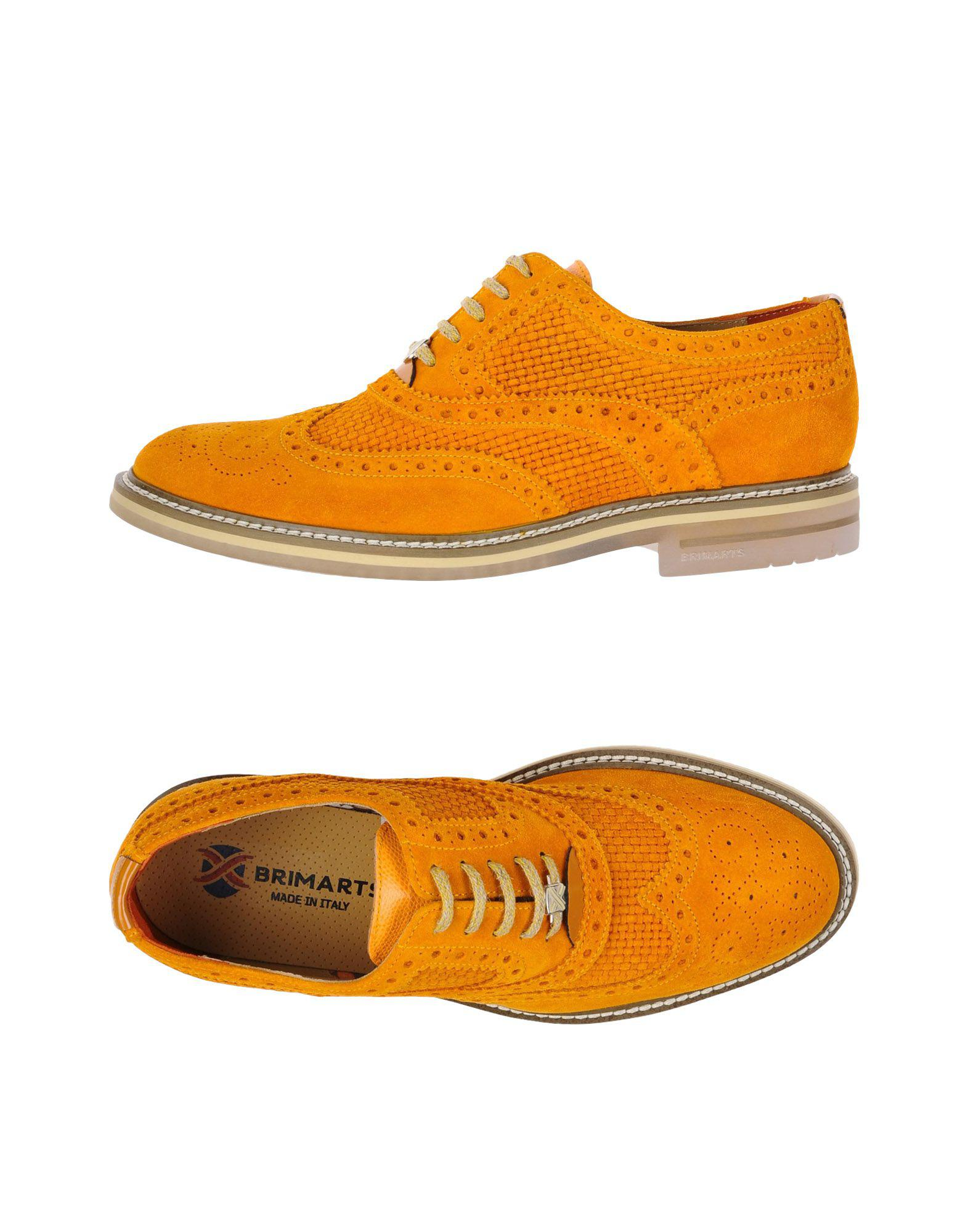 BRIMARTS Laced shoes Orange Men