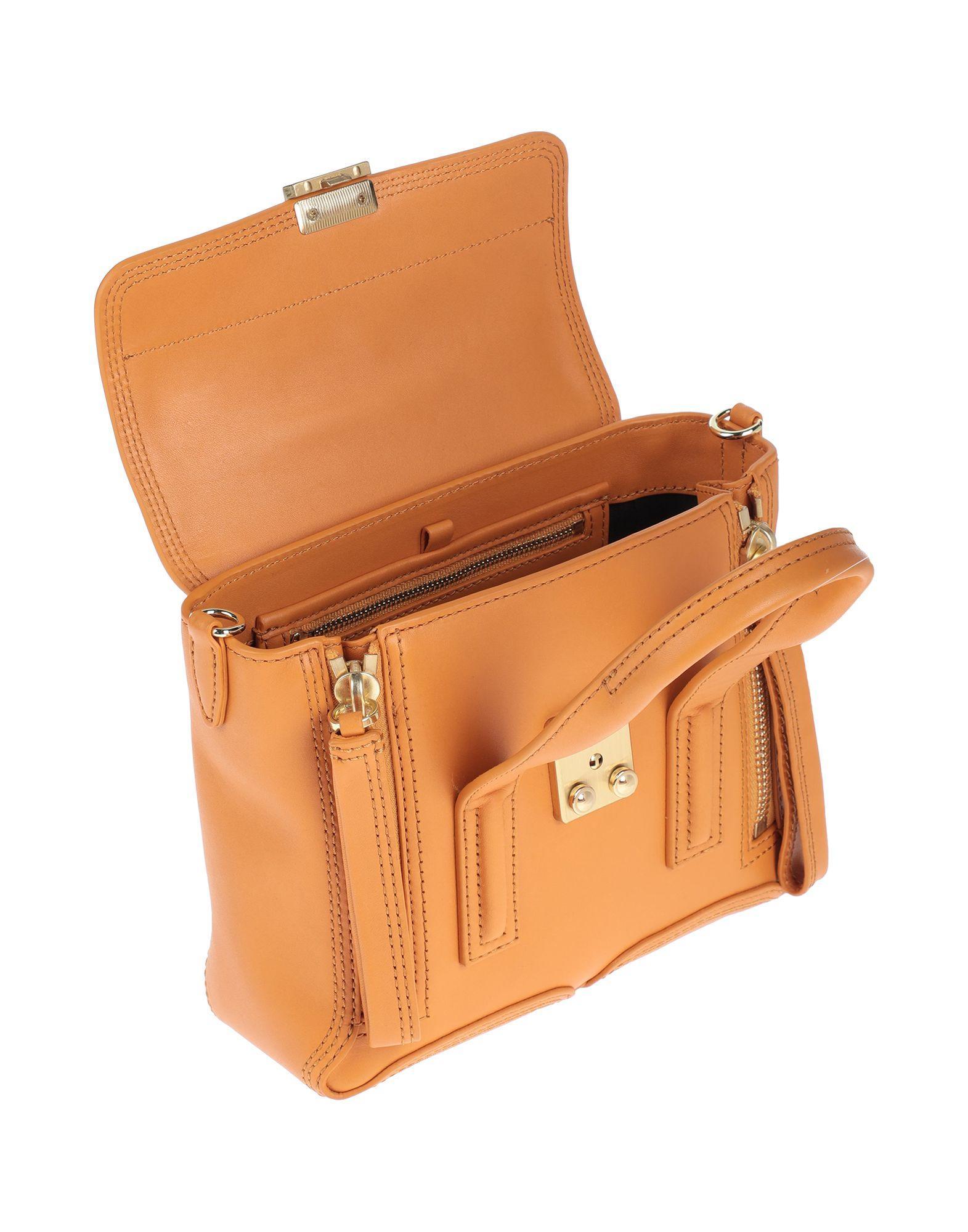 3.1 Phillip Lim Leder Handtaschen in Orange 4bpOA
