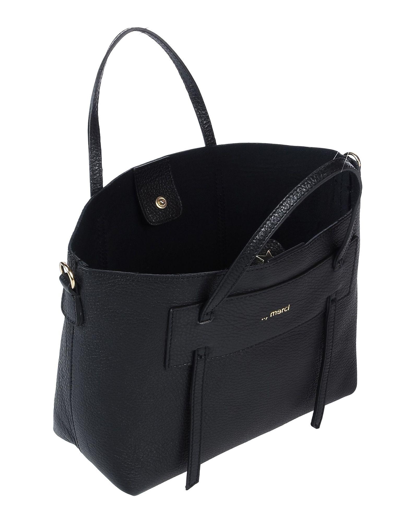 ..,merci Leder Handtaschen in Schwarz  dU0Pp