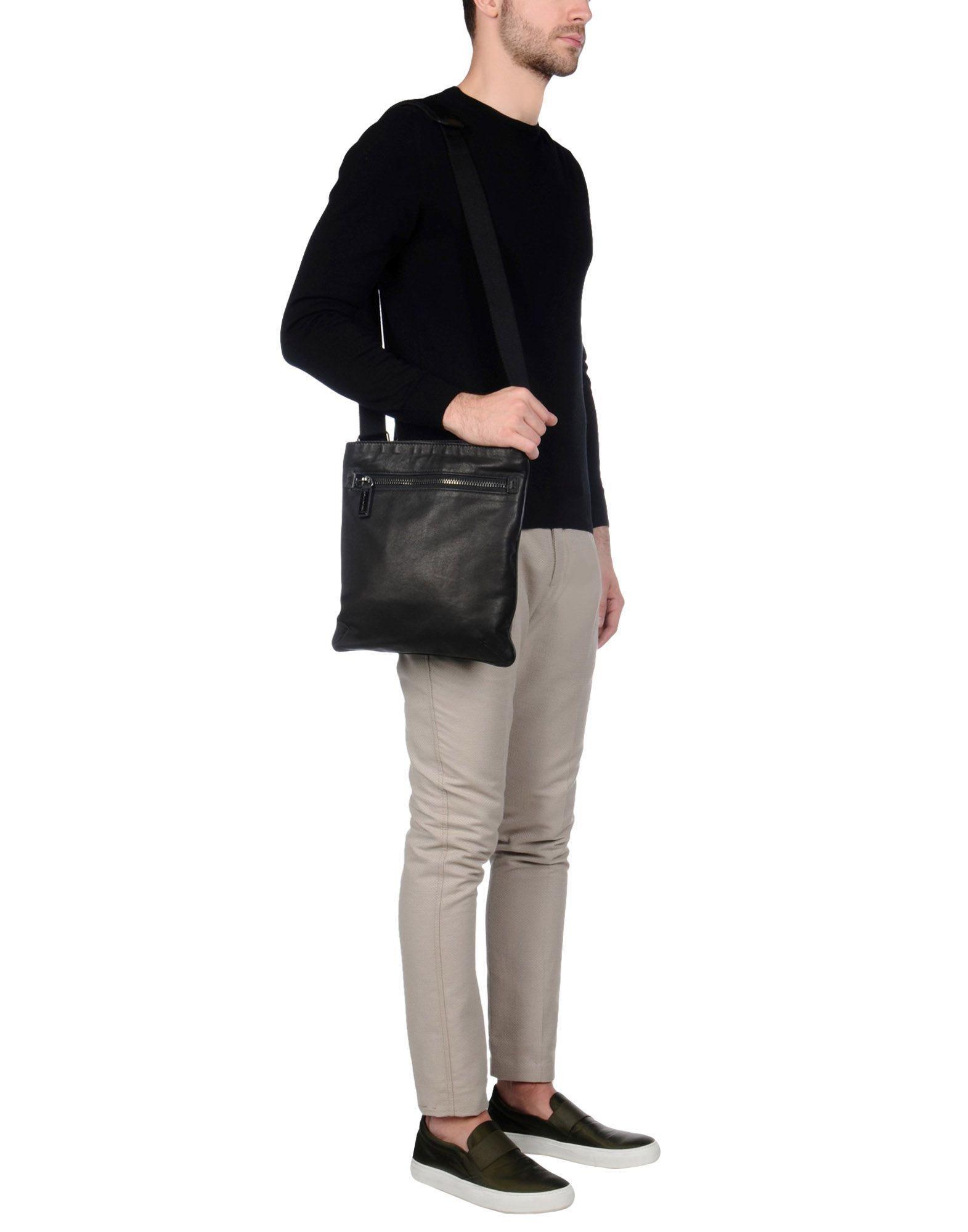 CoSTUME NATIONAL Leather Cross-body Bag in Black for Men