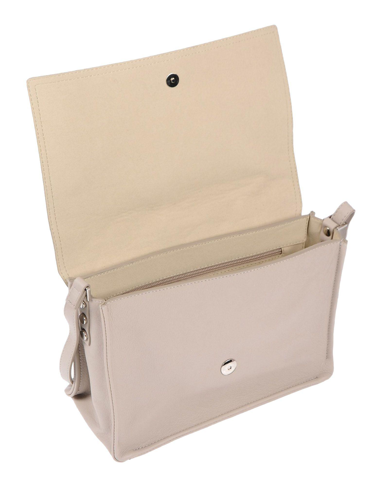 Orciani Leather Cross-body Bag in Sand (Natural)