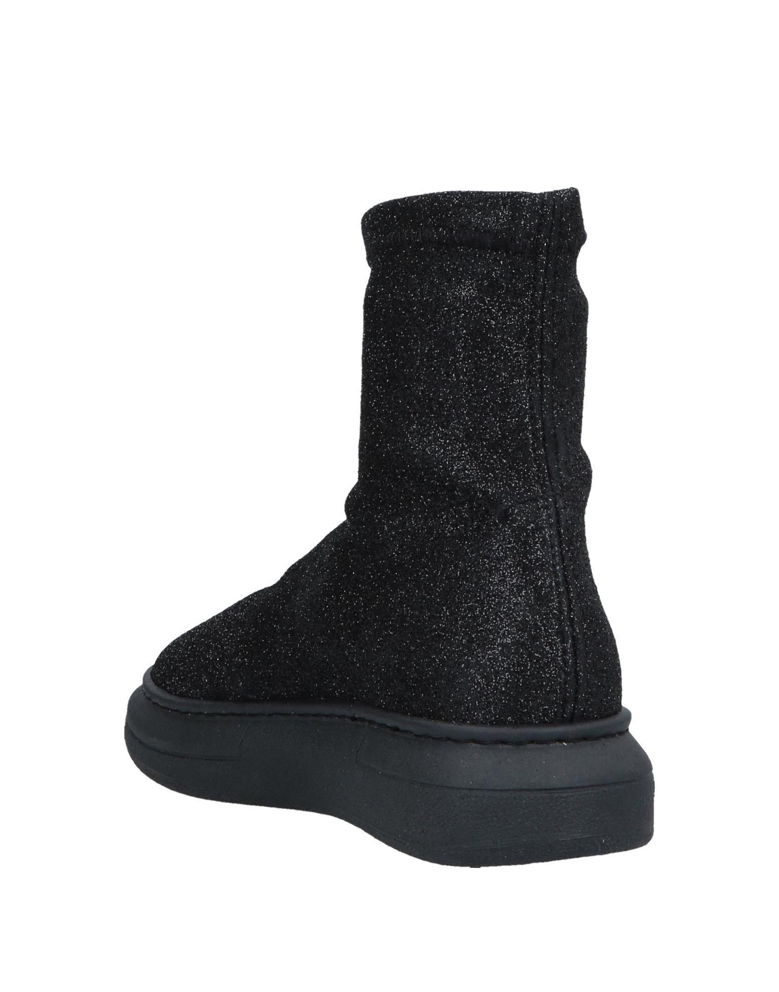 Botines de caña alta 2Star de Cuero de color Negro