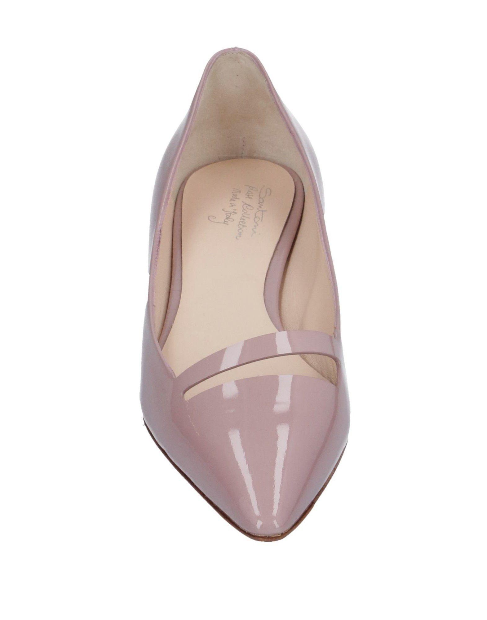 Zapatos de salón Santoni de Cuero de color Rosa