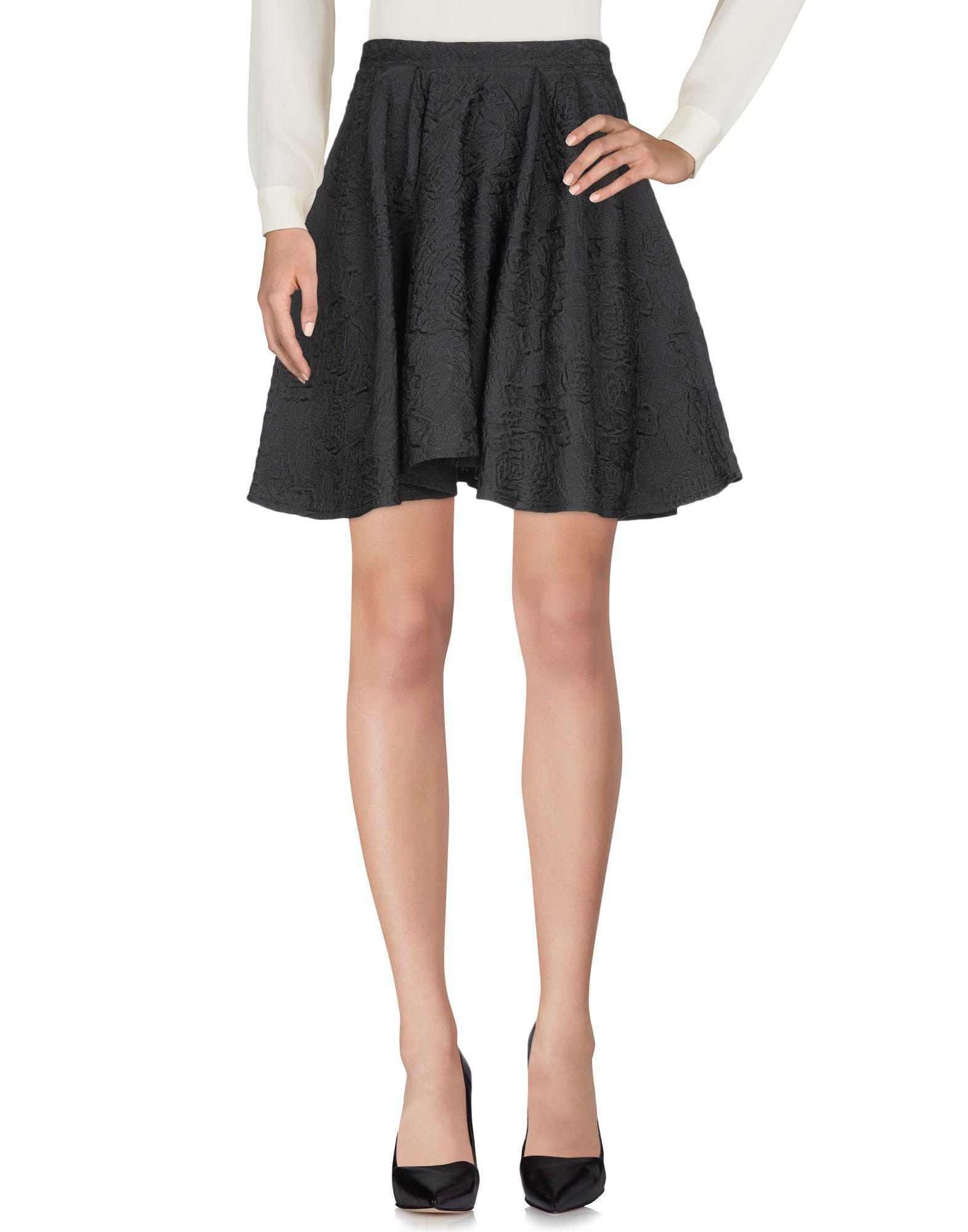 2cd4b713f Amen Knee Length Skirt in Black - Lyst