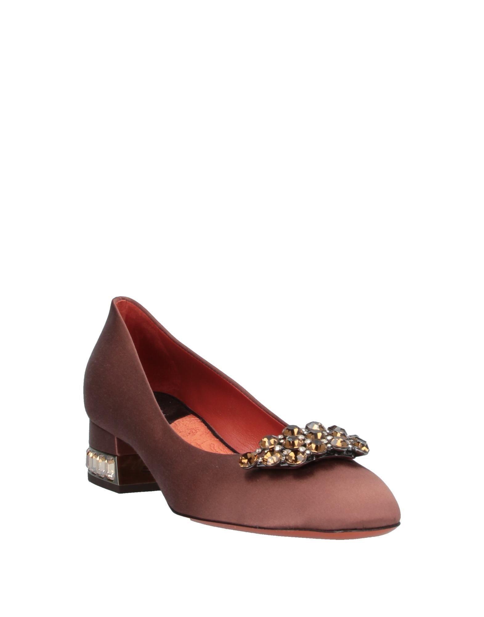 Zapatos de salón Santoni de Raso de color Marrón