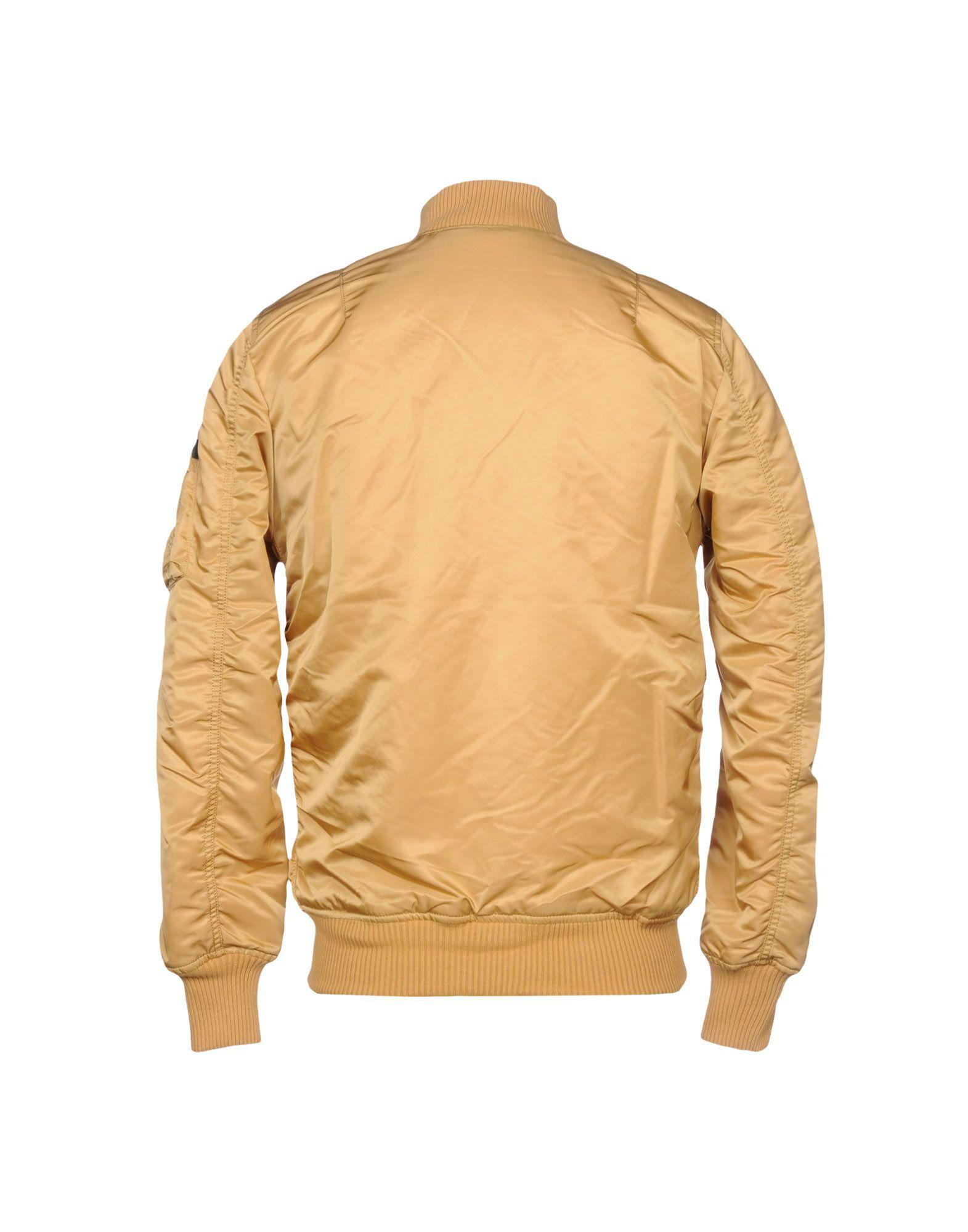 Alpha Industries Leather Jacket in Sand (Natural) for Men