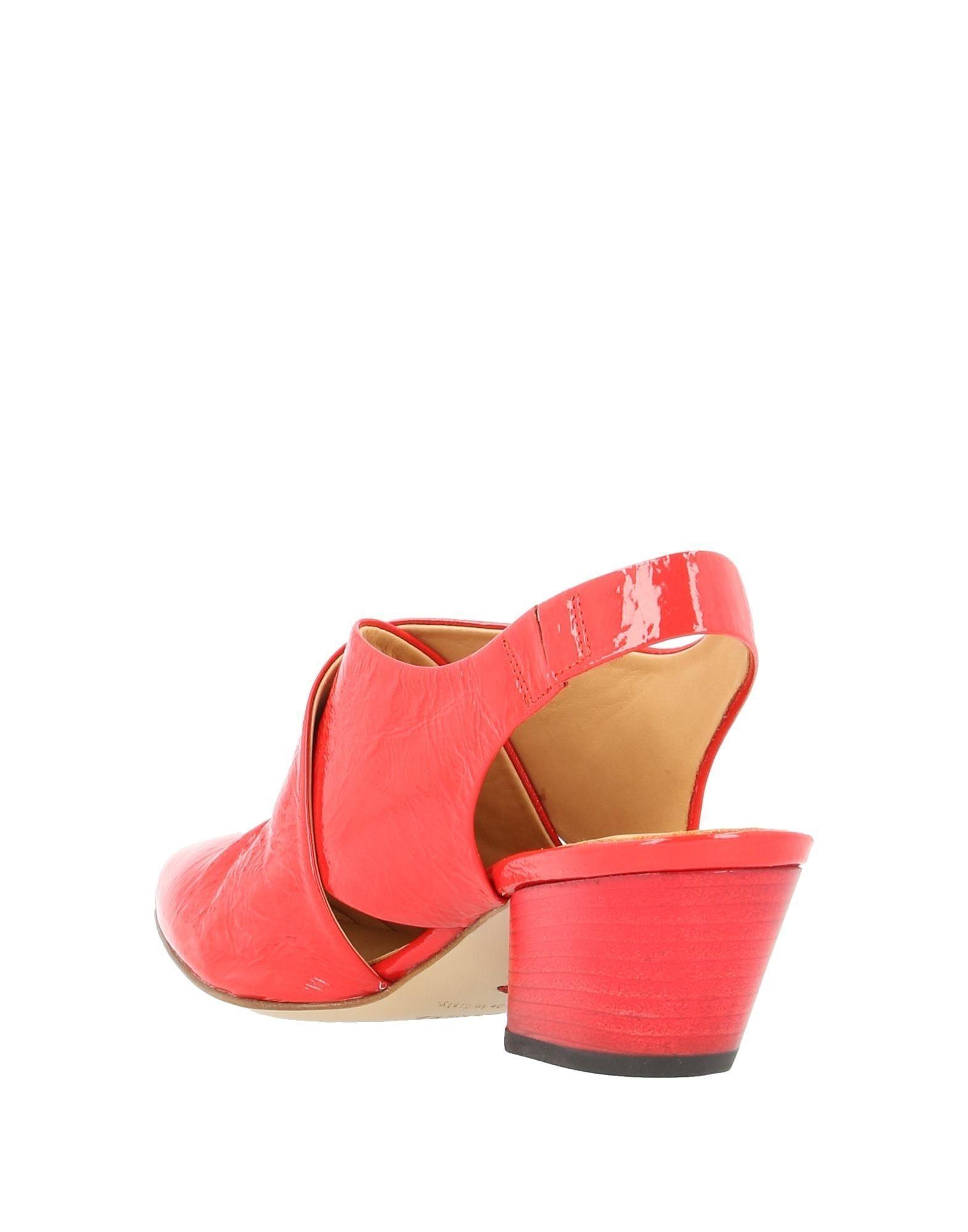 Zapatos de salón Halmanera de Cuero de color Rojo