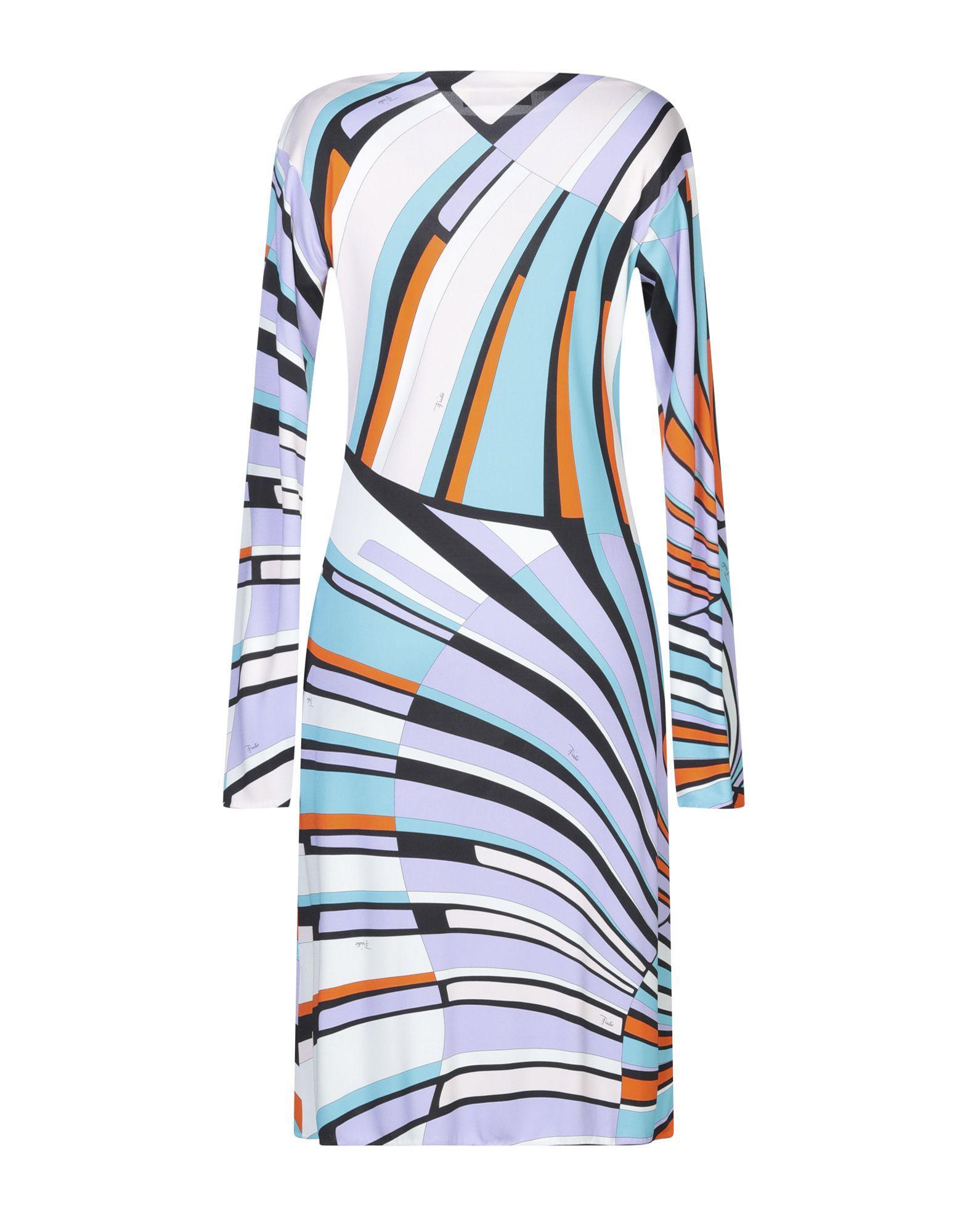 Vestido por la rodilla Emilio Pucci de Tejido sintético de color Morado