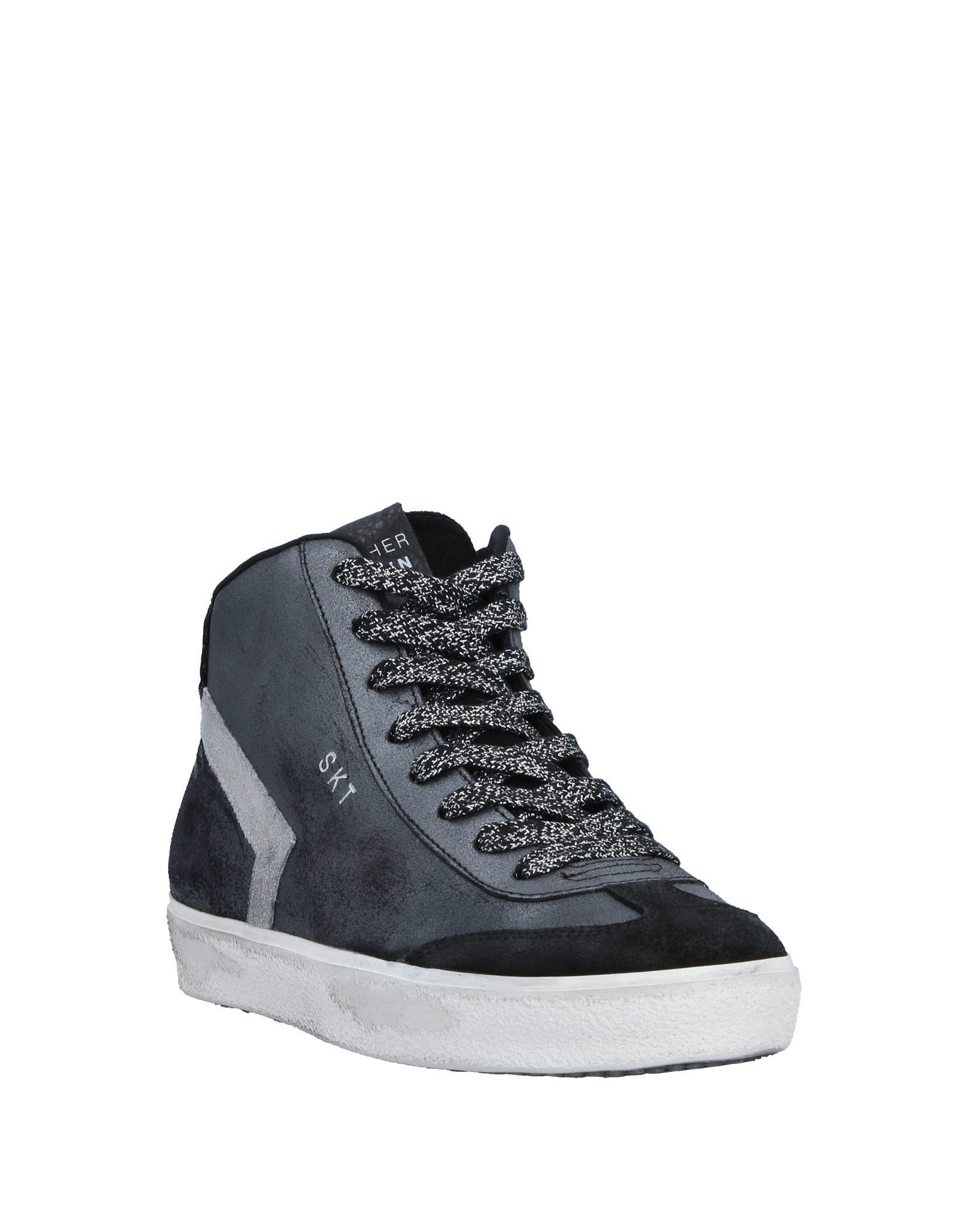 Leather Crown Velvet High-tops & Sneakers in Steel Grey (Grey)