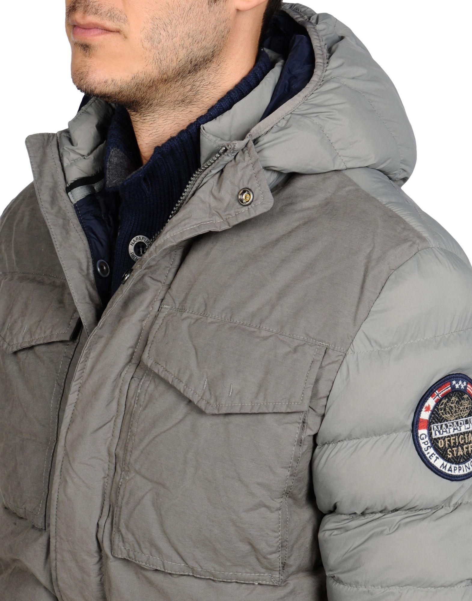 Napapijri Cotton Mid-length Jacket in Grey (Grey) for Men