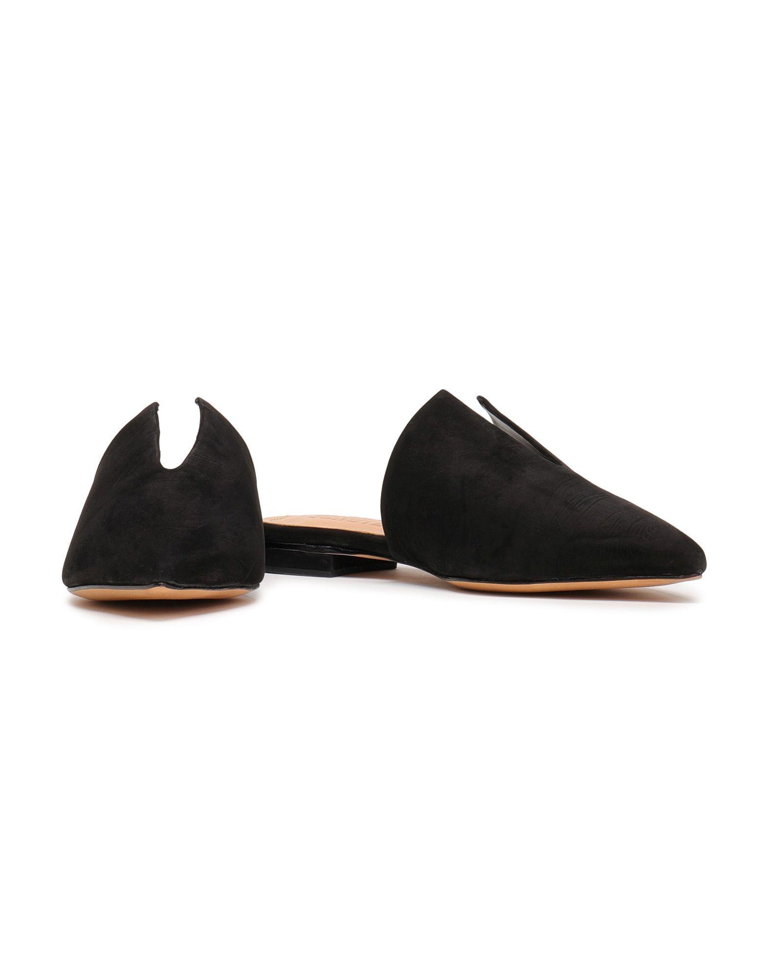 Mules & Zuecos Schutz de Cuero de color Negro