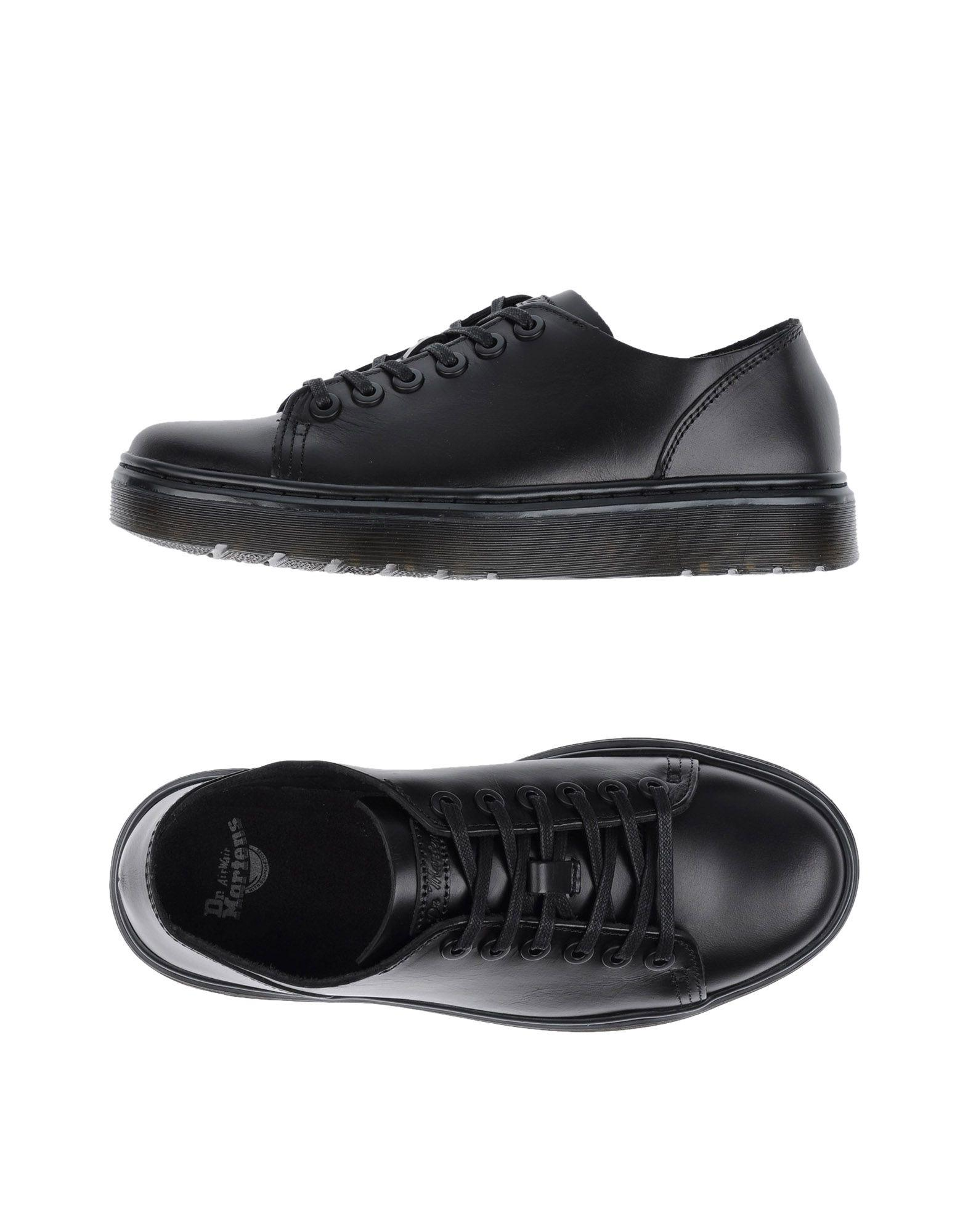Dr Martens Leather Low Tops Amp Sneakers In Black Lyst