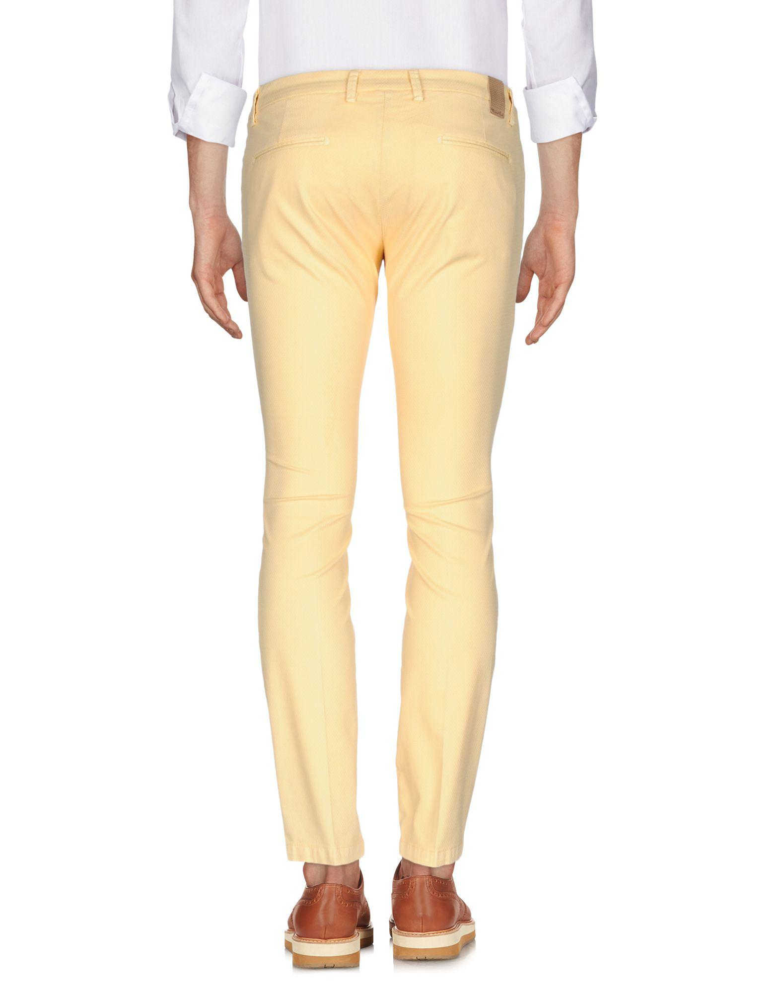 Michael Coal Cotton Casual Trouser in Yellow for Men