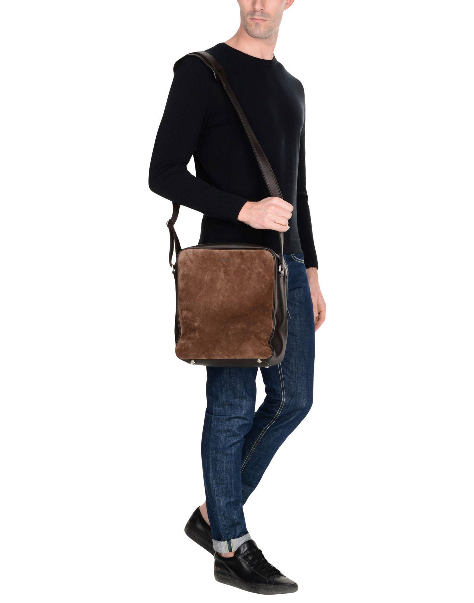Tom Ford Suede Cross-body Bag in Dark Brown (Brown) for Men