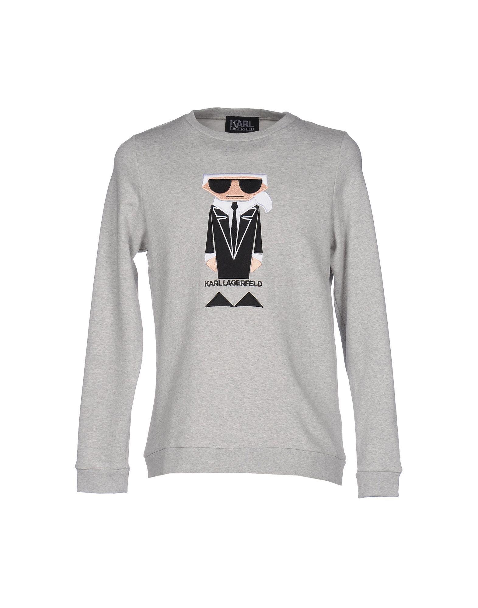 2201718a2fe14 Karl Lagerfeld - Gray Sweatshirt for Men - Lyst. View fullscreen