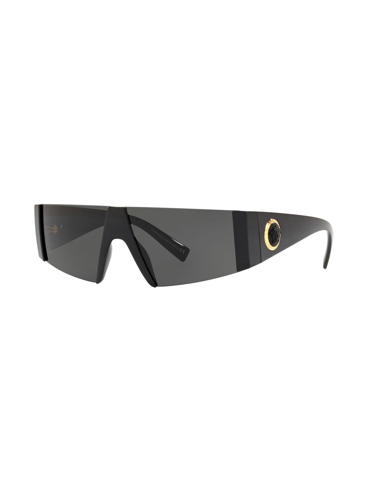 fd2928fedc Versace Medusa Logo Shield Sunglasses in Black for Men - Lyst