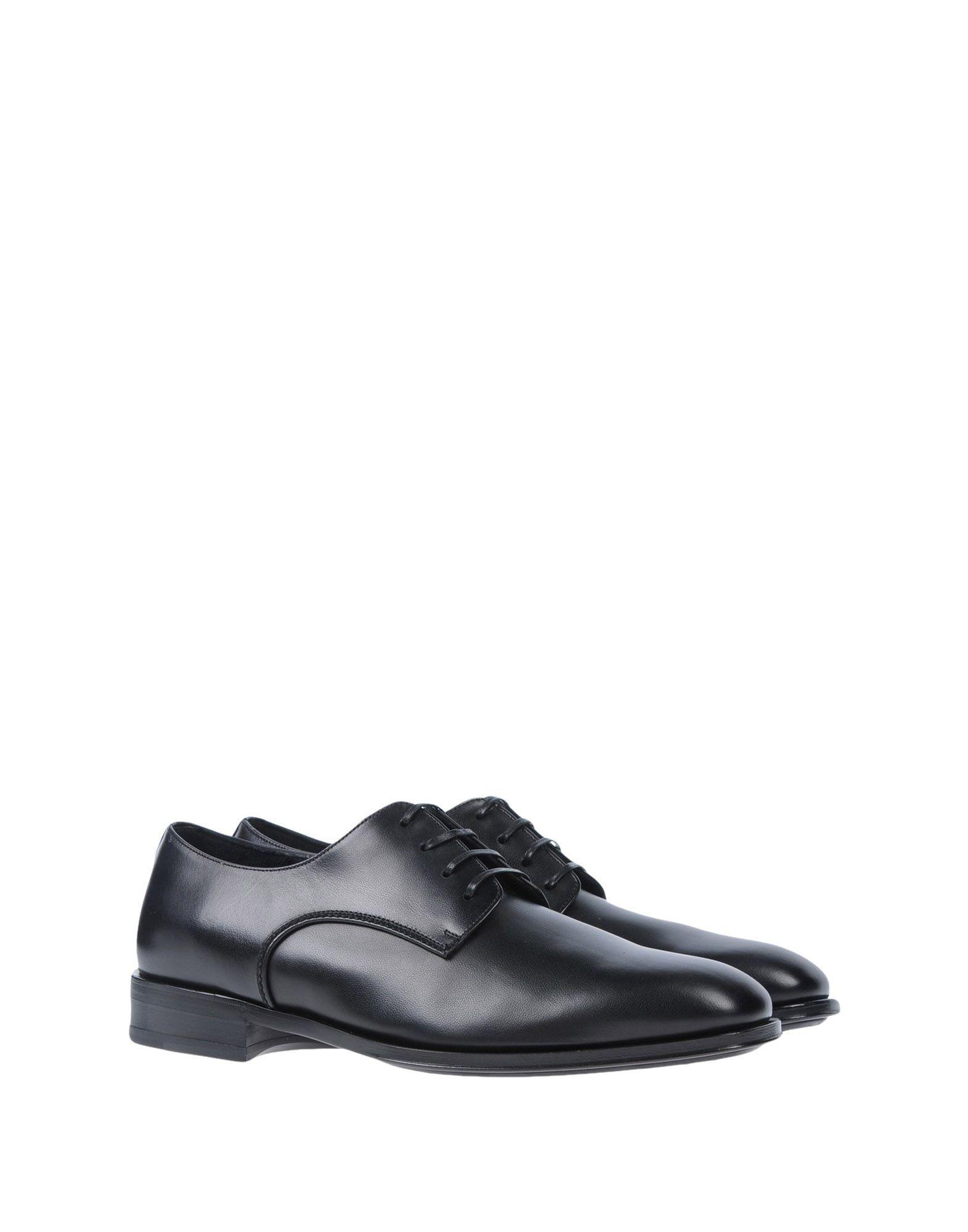 Zapatos de cordones Ferragamo de Cuero de color Negro para hombre