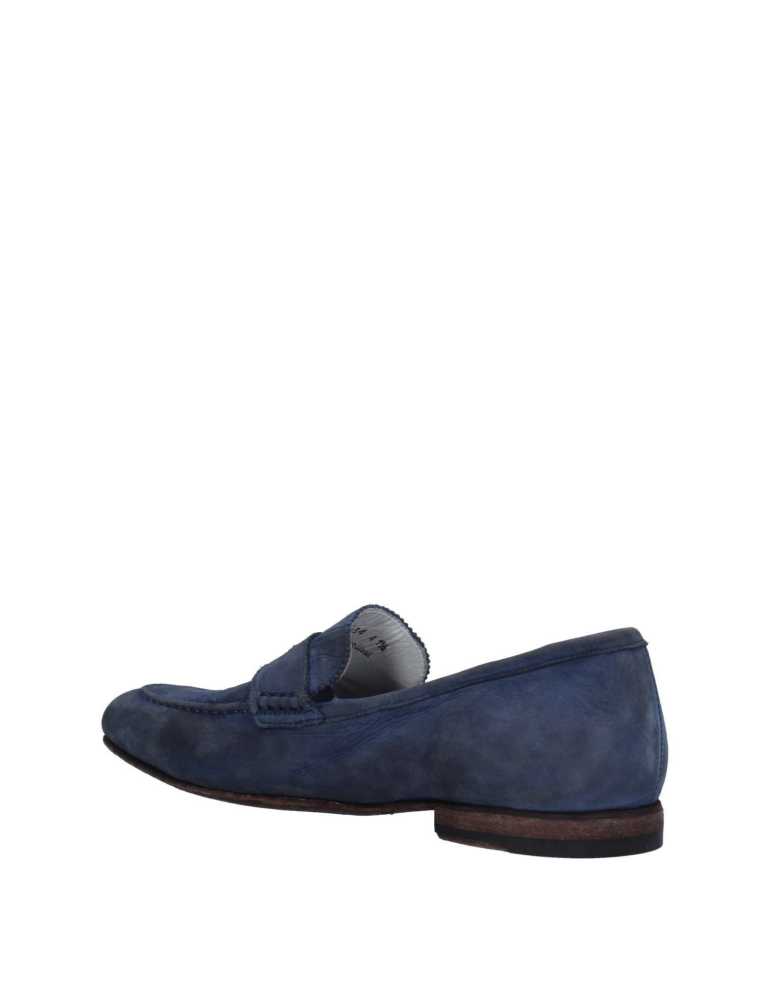 Alberto Guardiani Leather Loafer in Slate Blue (Blue) for Men