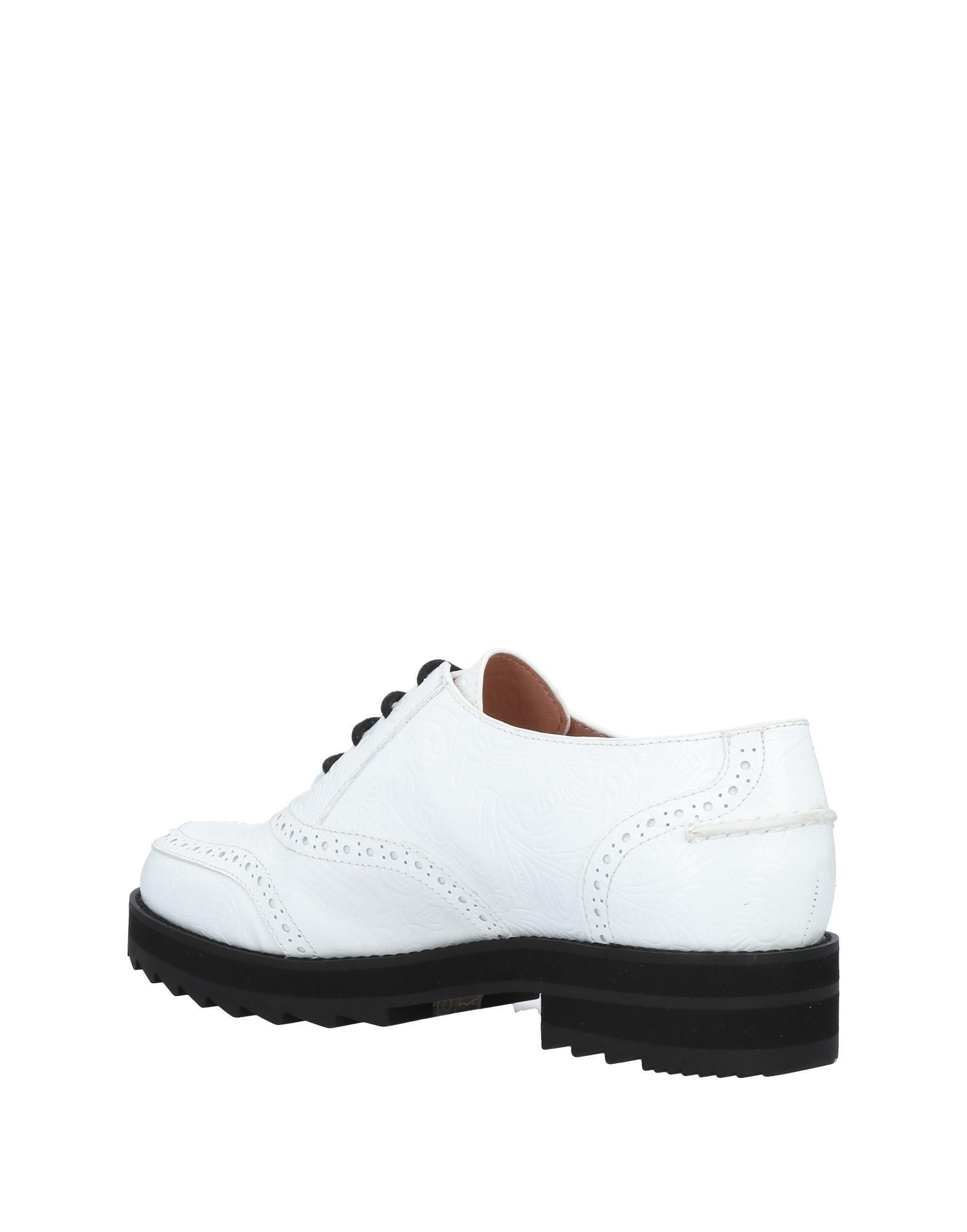 Lyst - Chaussures à lacets Jil Sander Navy en coloris Blanc 43a643e9bbe6