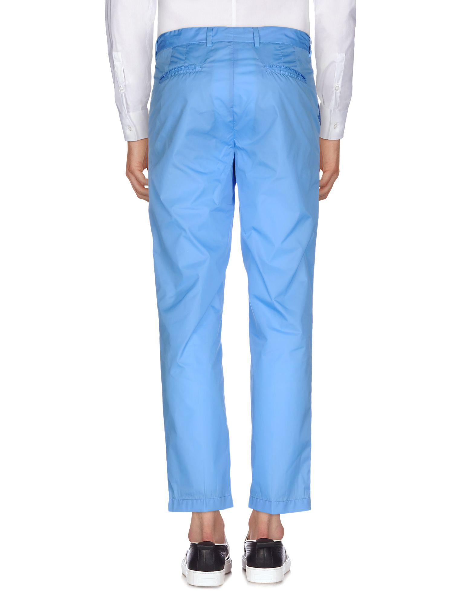 MSGM Synthetic Casual Pants in Azure (Blue) for Men