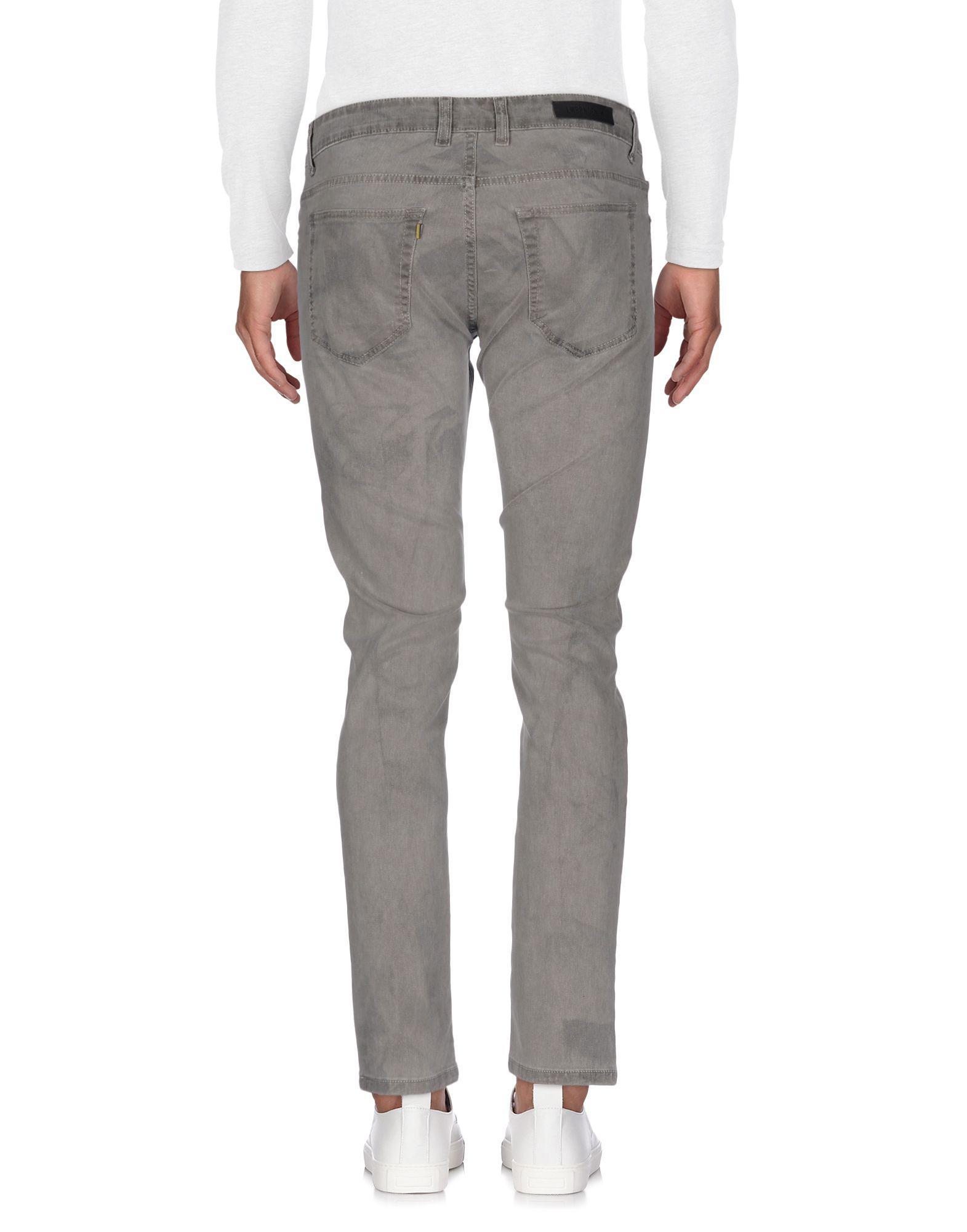 Low Brand Denim Trousers in Light Grey (Grey) for Men