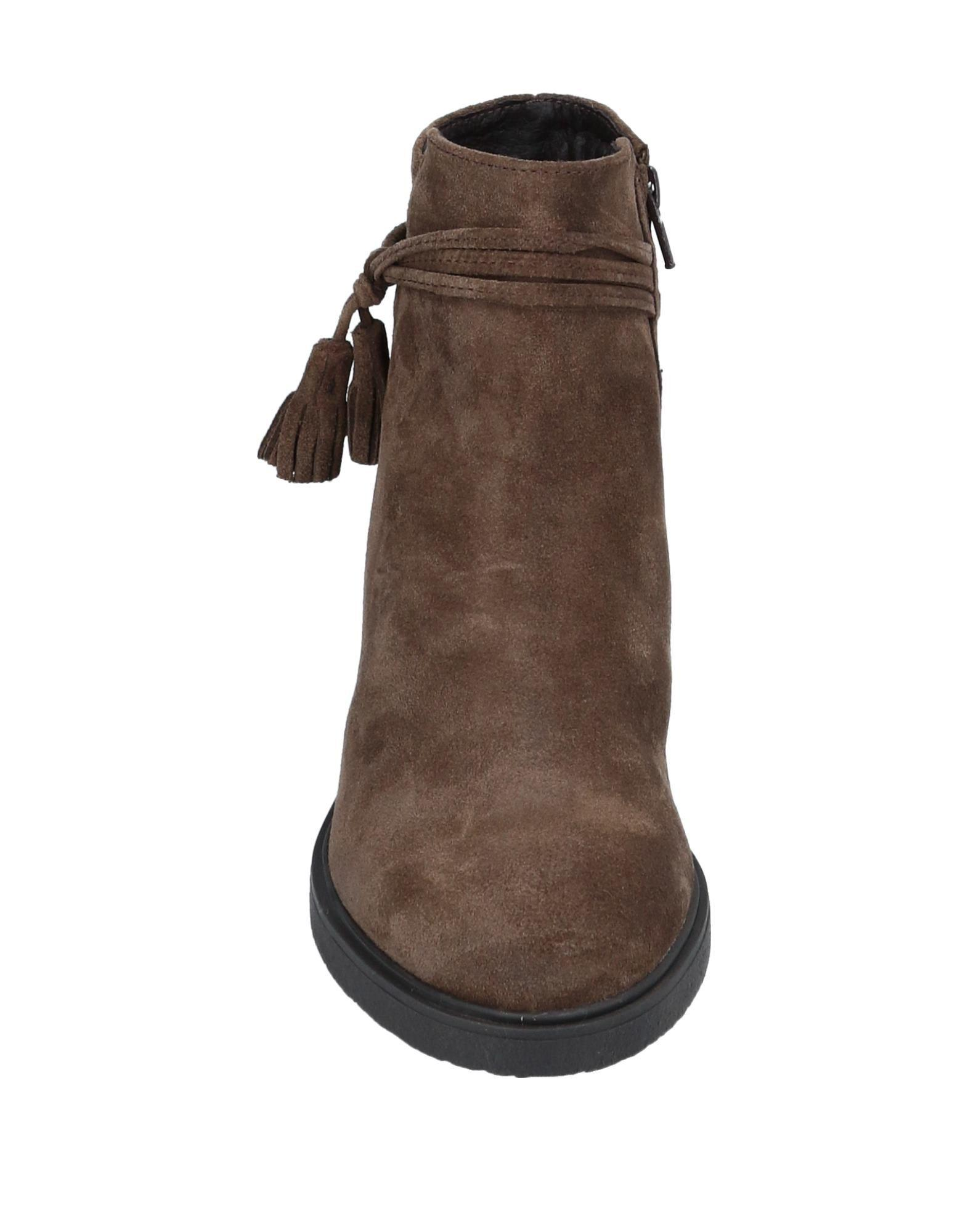 CafeNoir Suede Ankle Boots in Khaki (Brown)