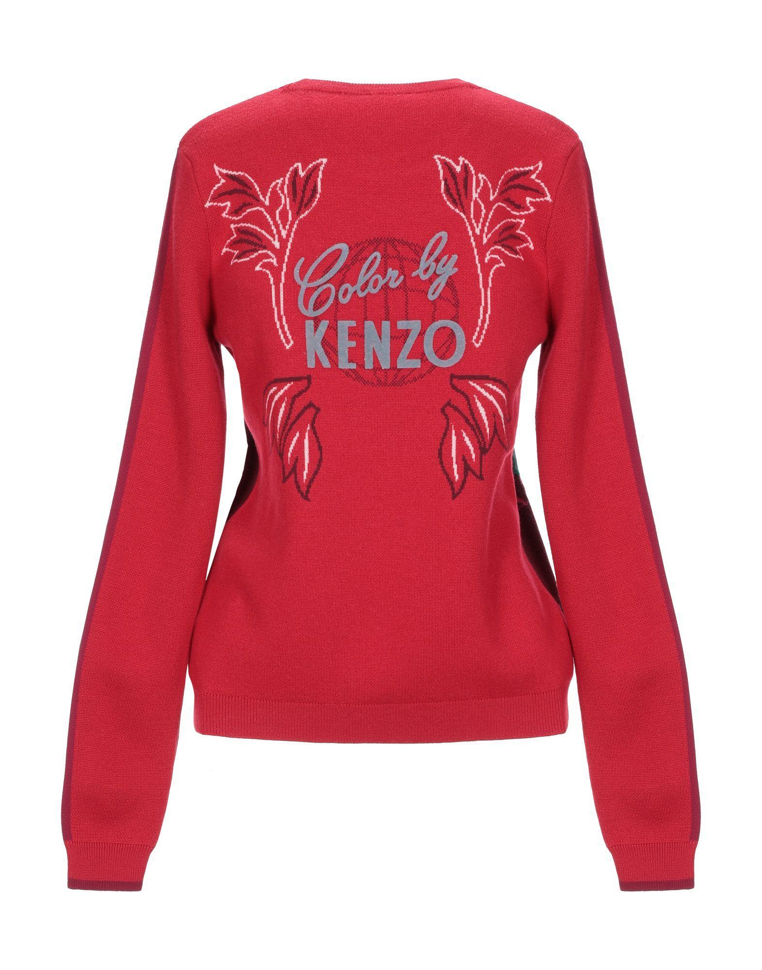 Pull Femme Laines KENZO en coloris Rouge