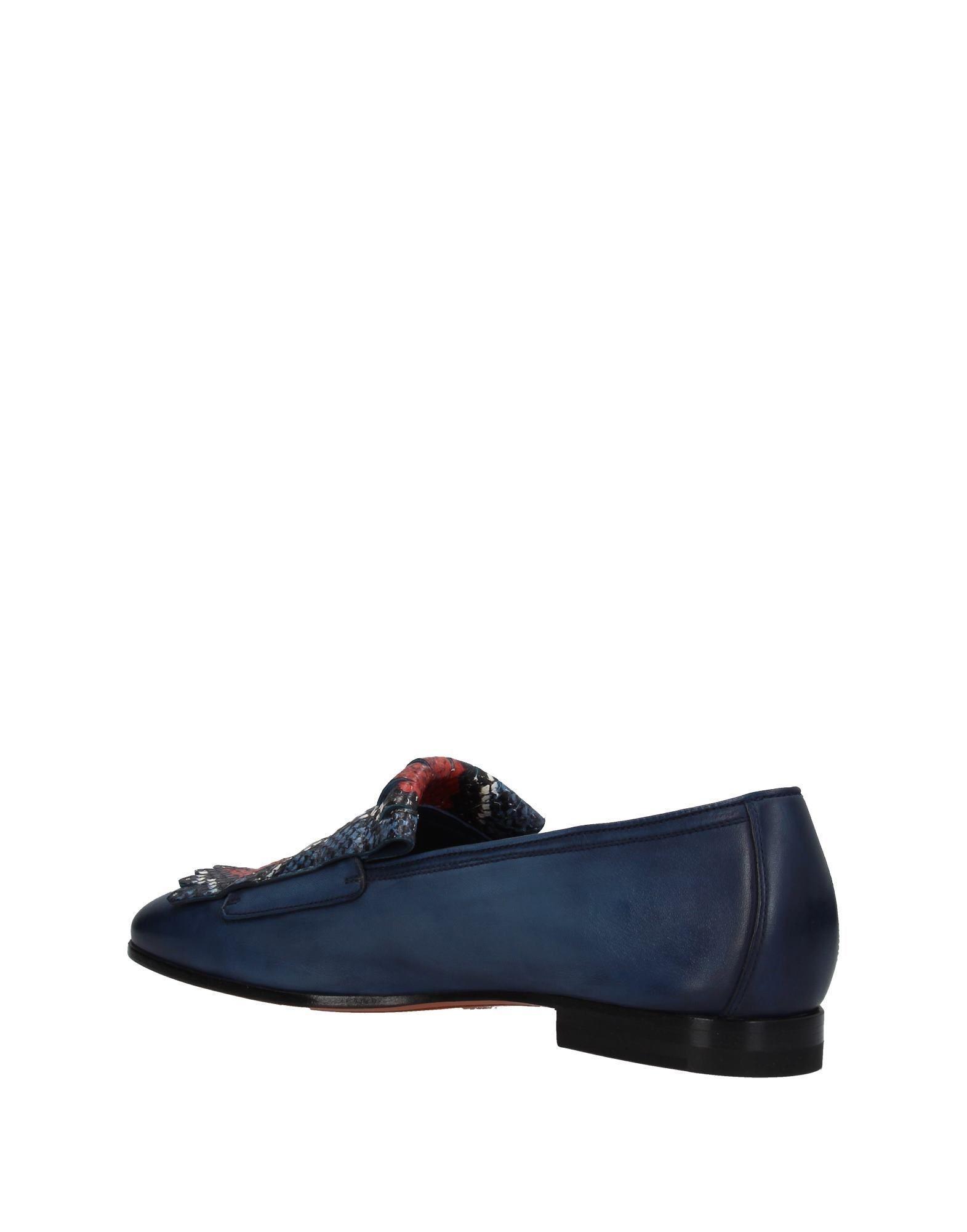 Mocasines Santoni de Cuero de color Azul