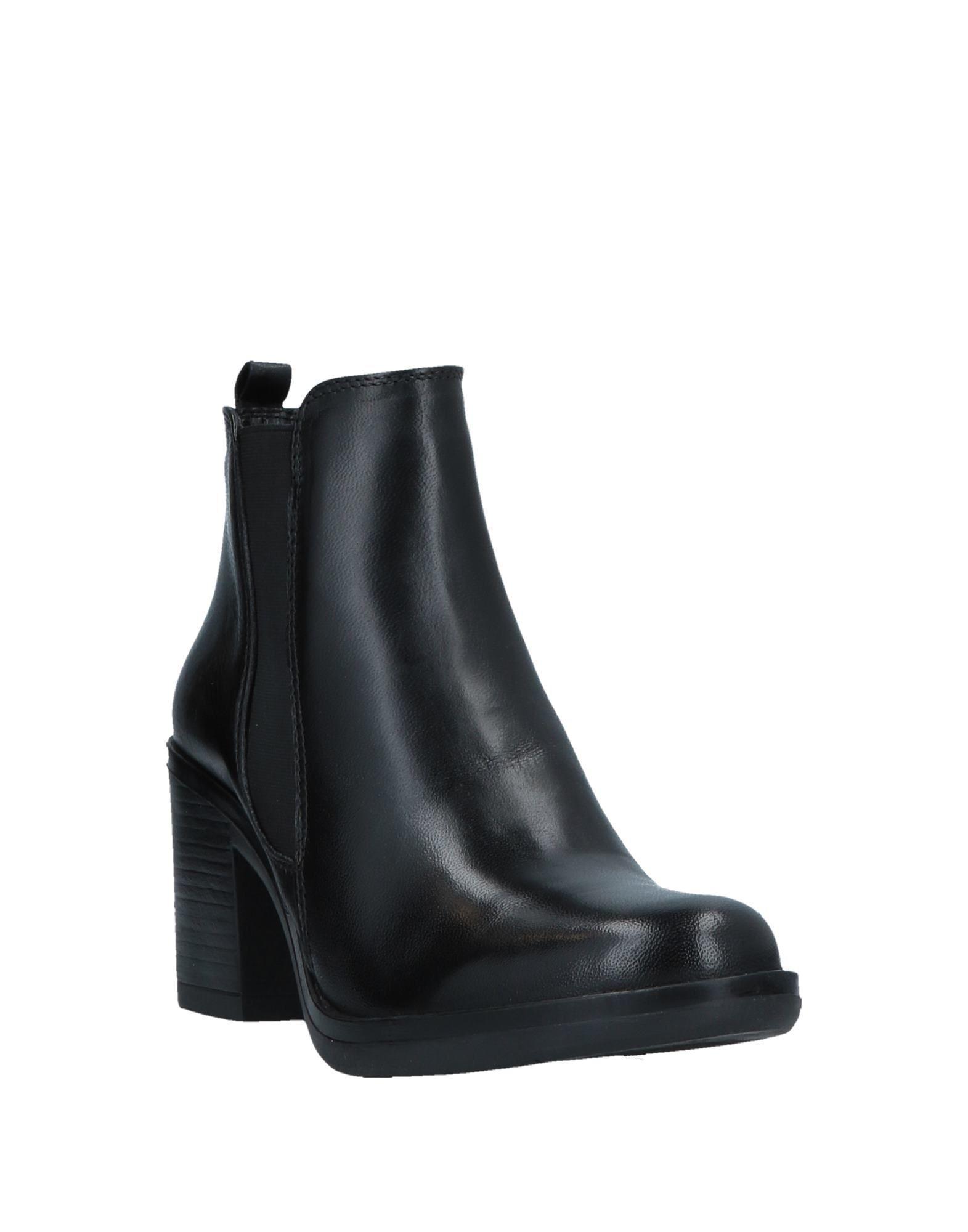 Botines de caña alta CafeNoir de Cuero de color Negro
