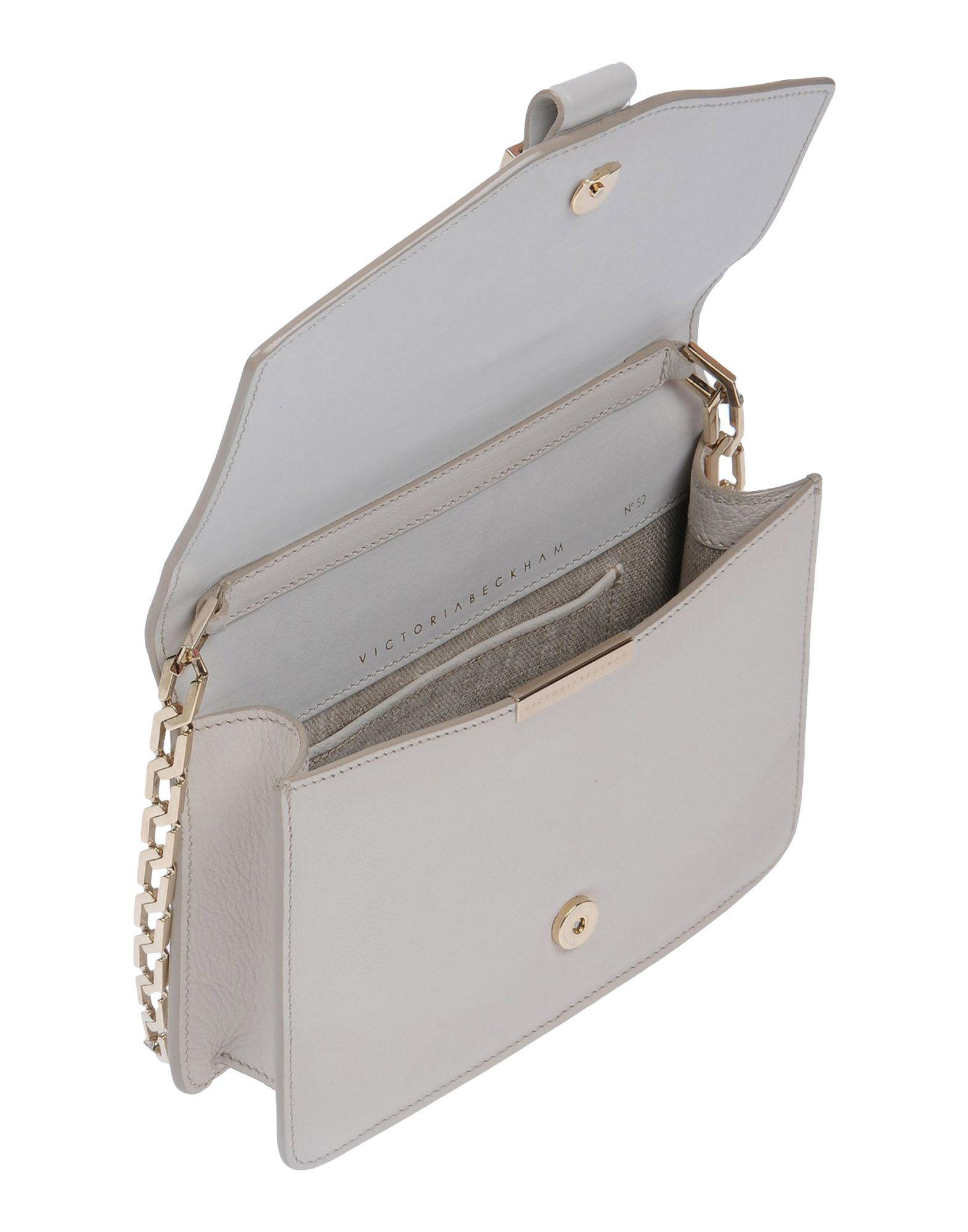 Victoria Beckham Leather Cross-body Bag in Ivory (White)