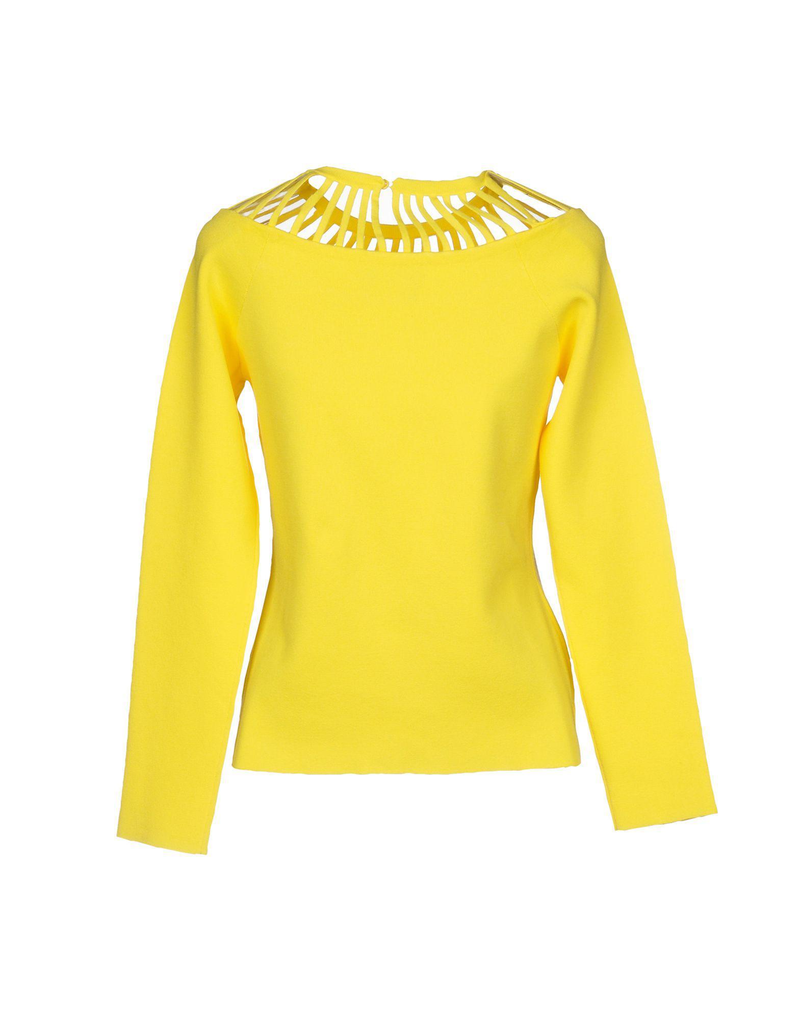 Pullover Synthétique Boutique Moschino en coloris Jaune