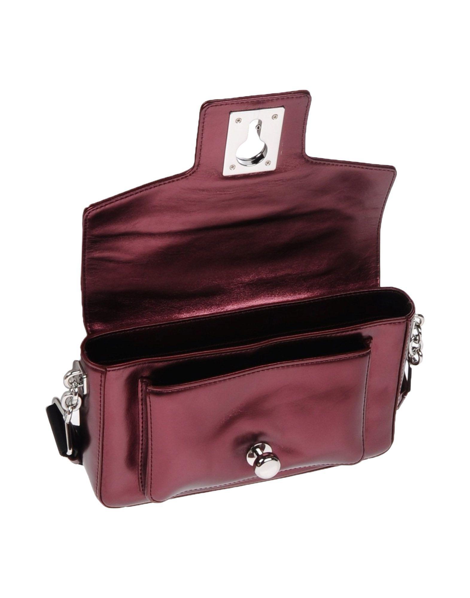 Karl Lagerfeld Leather Cross-body Bag in Deep Purple (Purple)