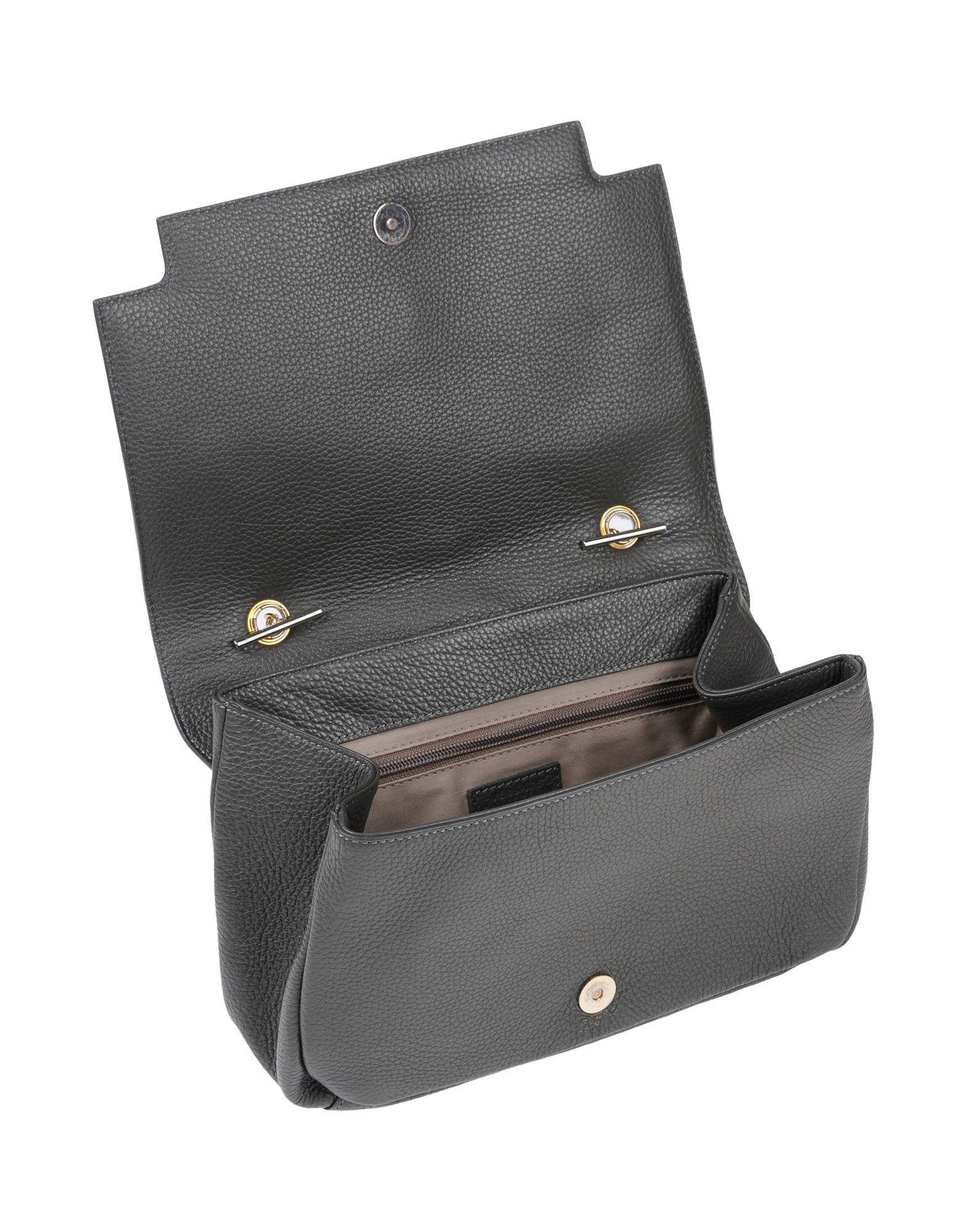 Versace Leather Cross-body Bag in Grey (Grey)