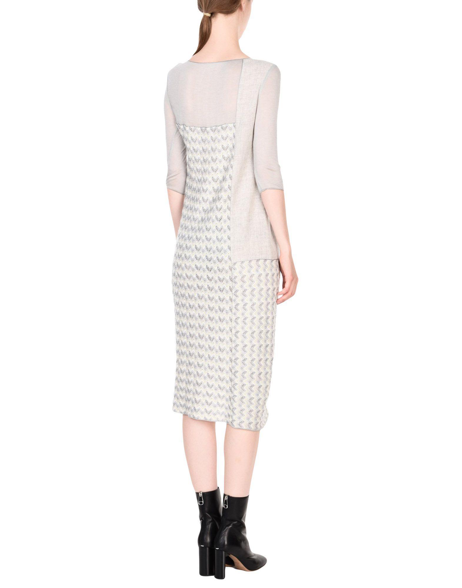 92e994e619ee7 Missoni Knee-length Dress in Gray - Lyst
