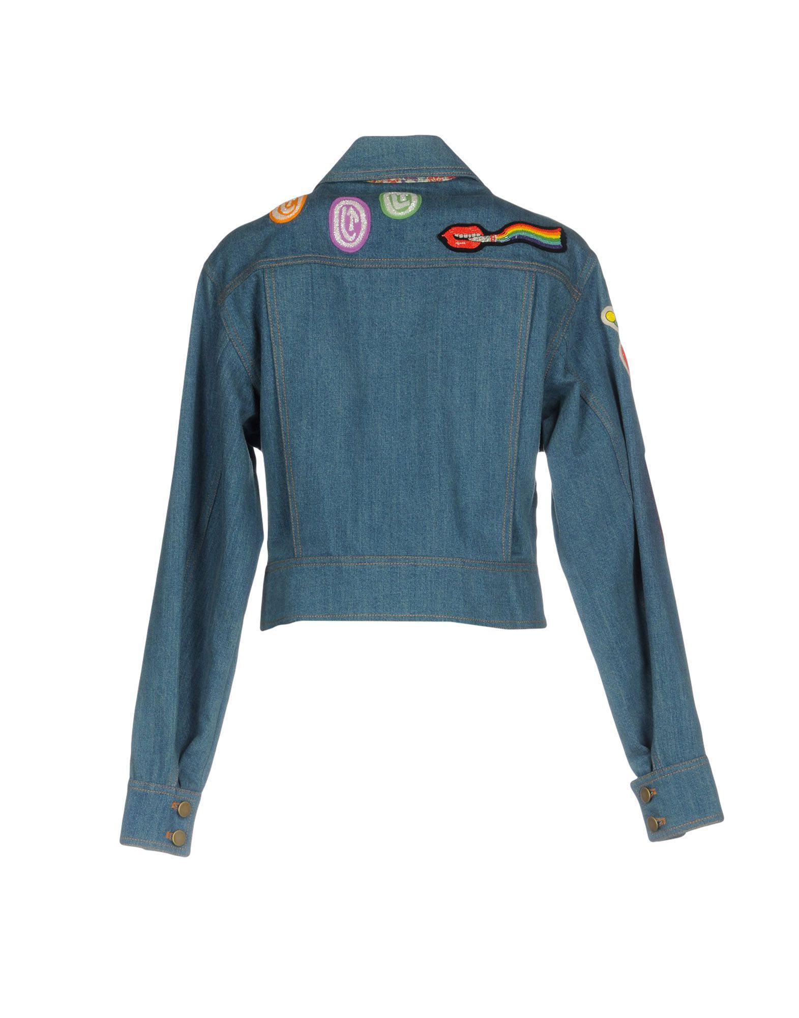 Manteau en jean Jean Olympia Le-Tan en coloris Bleu h5FNn