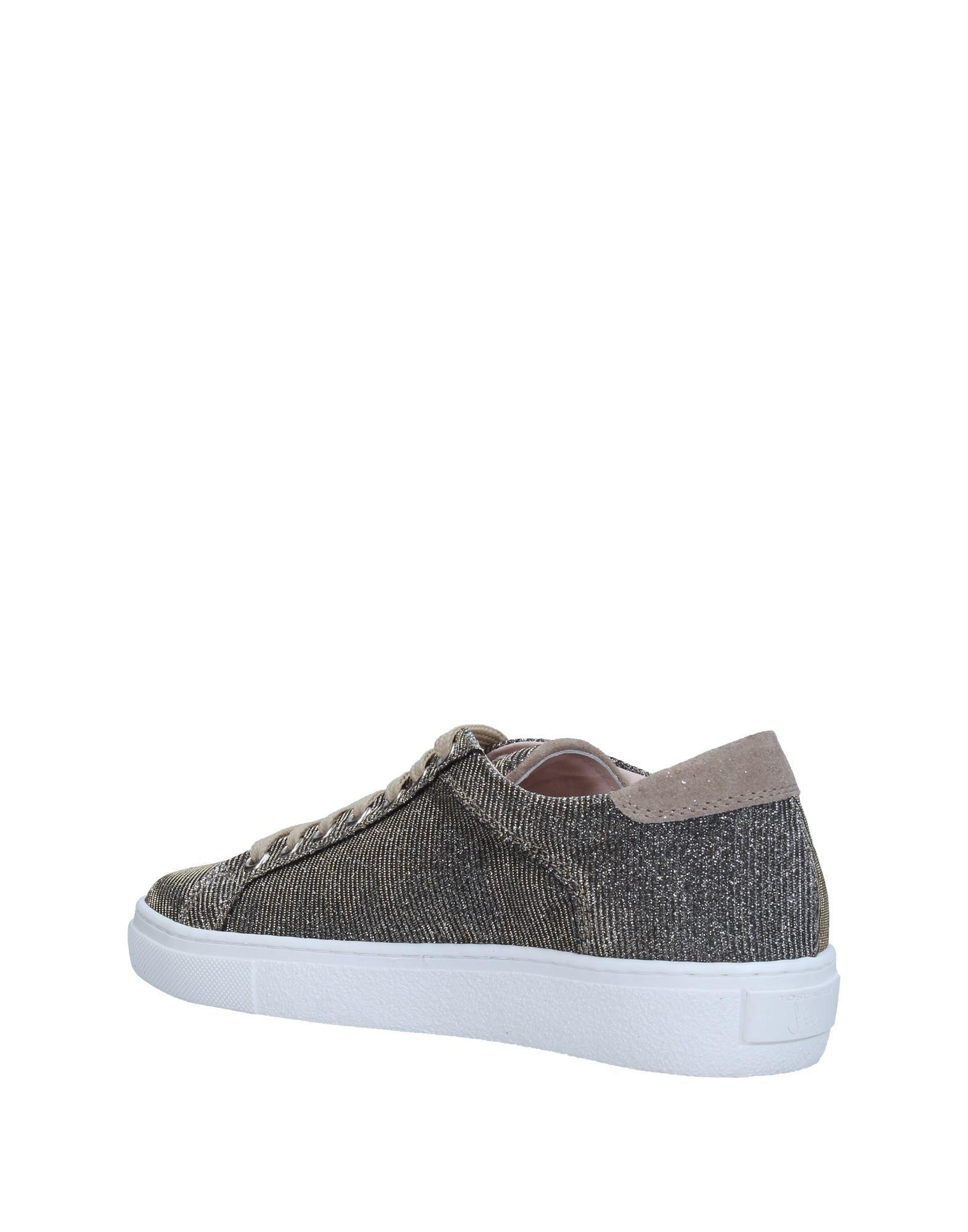 Tosca Blu Leather Low-tops & Sneakers in Lead (Grey)