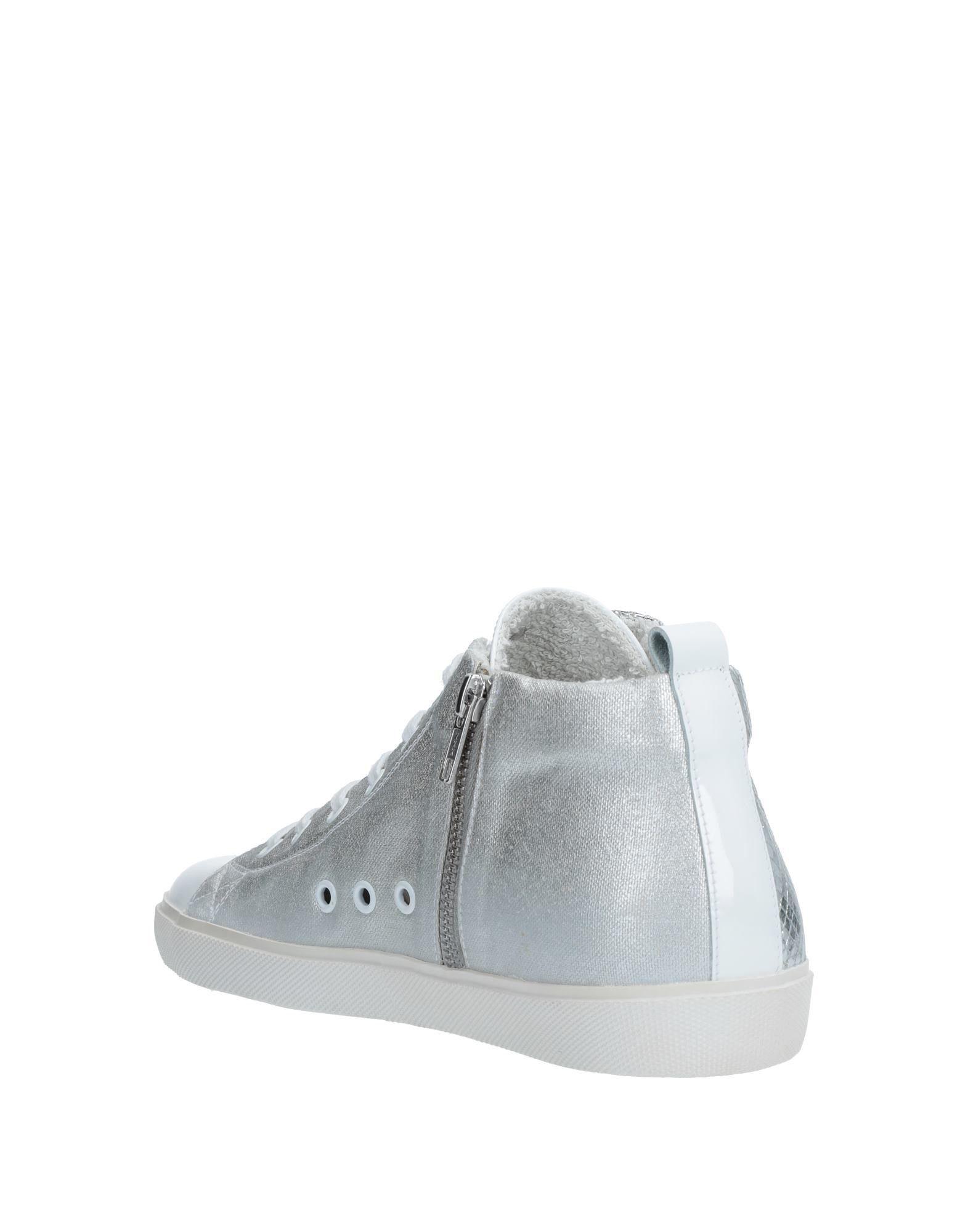 Sneakers abotinadas Leather Crown de Cuero de color Blanco