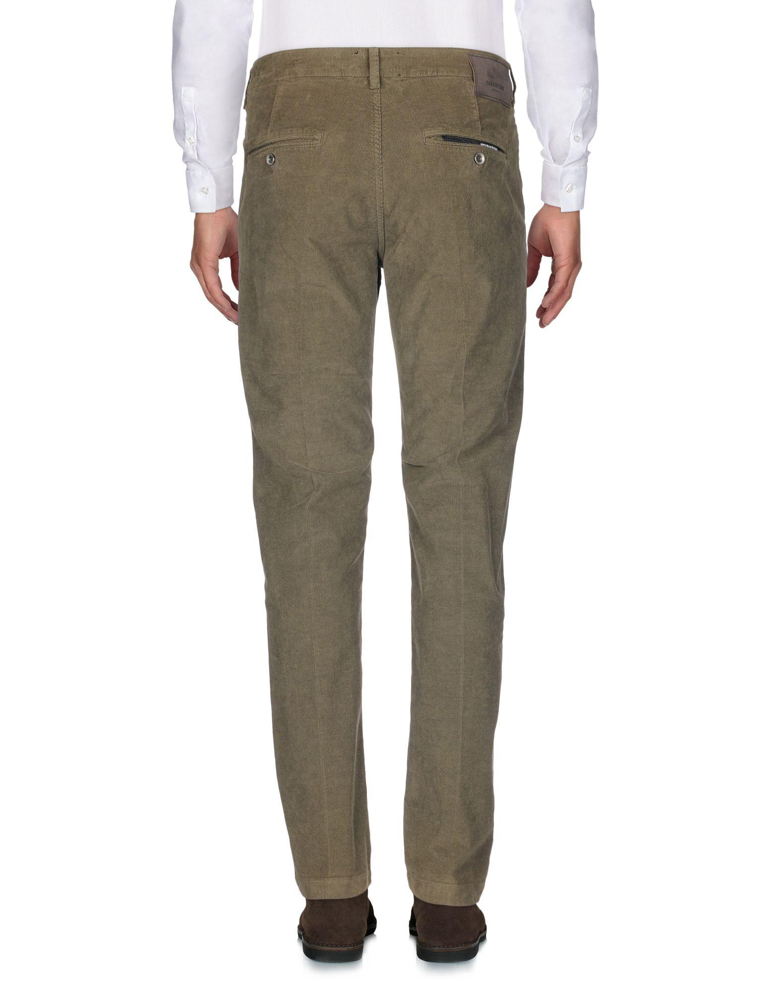 Camouflage AR and J. Corduroy Casual Trouser in Military Green (Green) for Men
