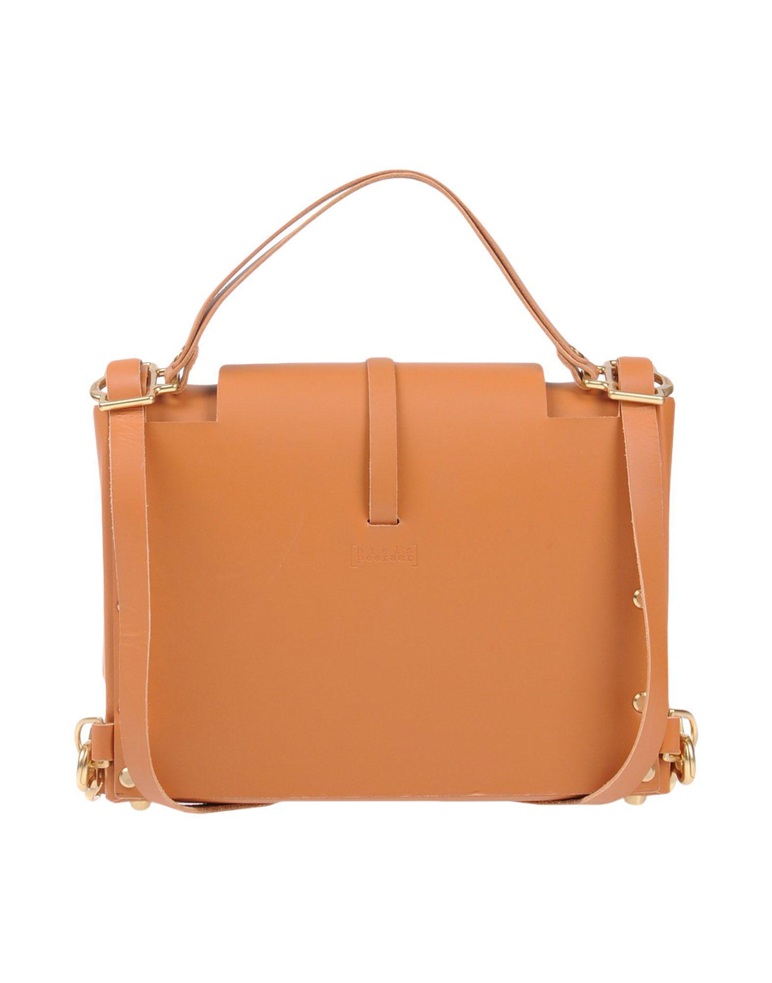 Niels Peeraer Leather Backpacks & Fanny Packs in Tan (Brown)