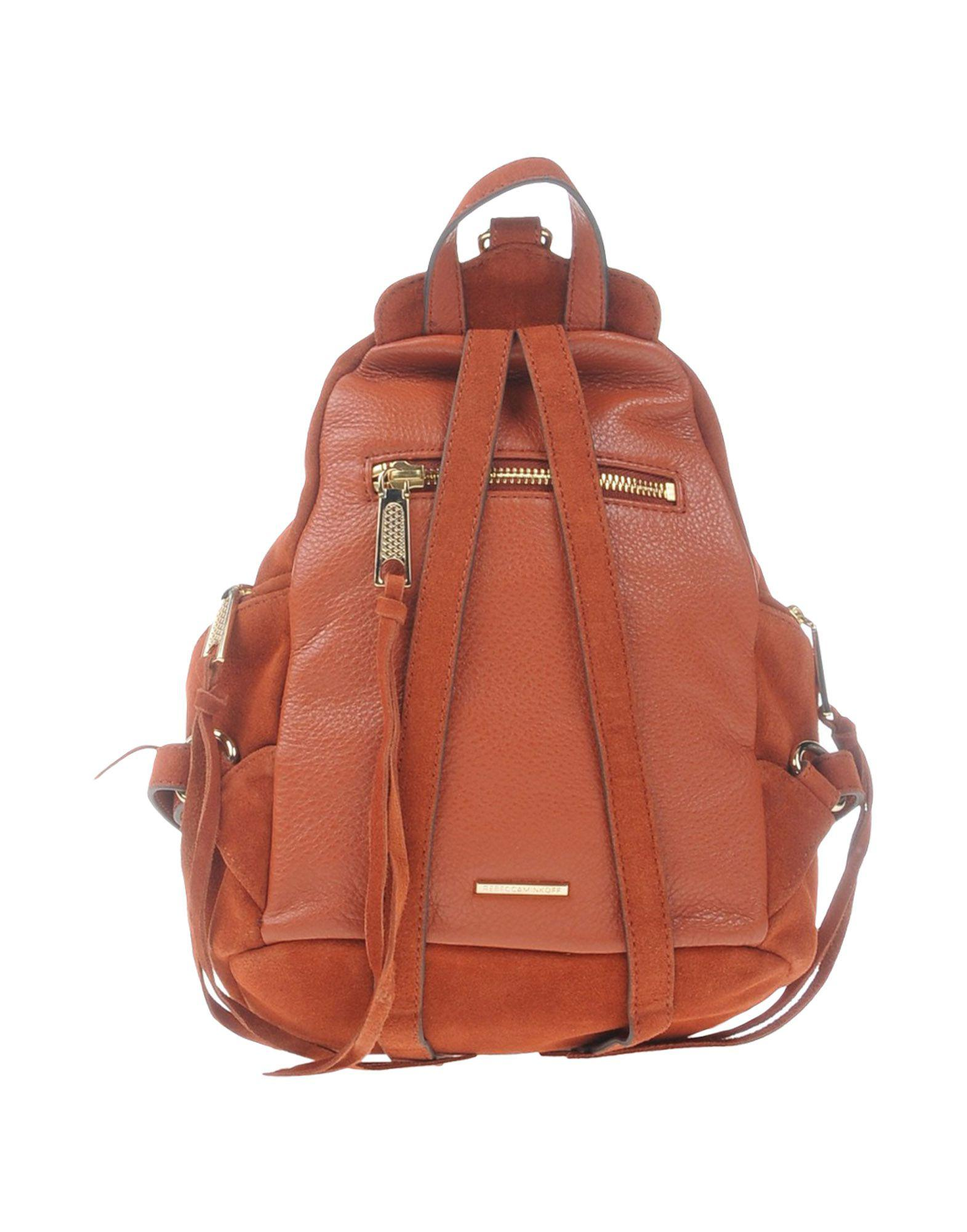 Rebecca Minkoff Leather Backpacks & Fanny Packs in Brick Red (Red)
