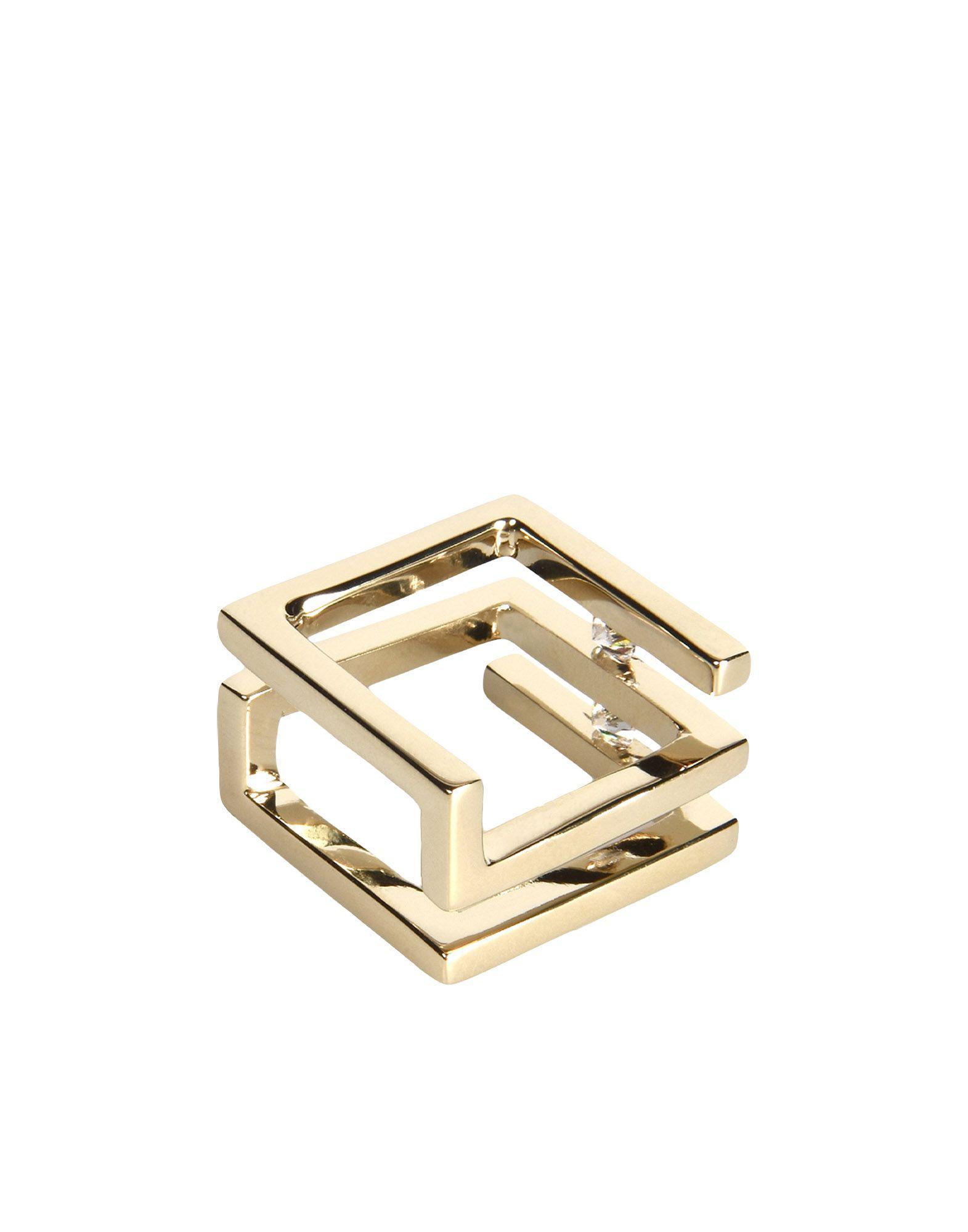 Maison Margiela Ring in Platinum (Metallic)