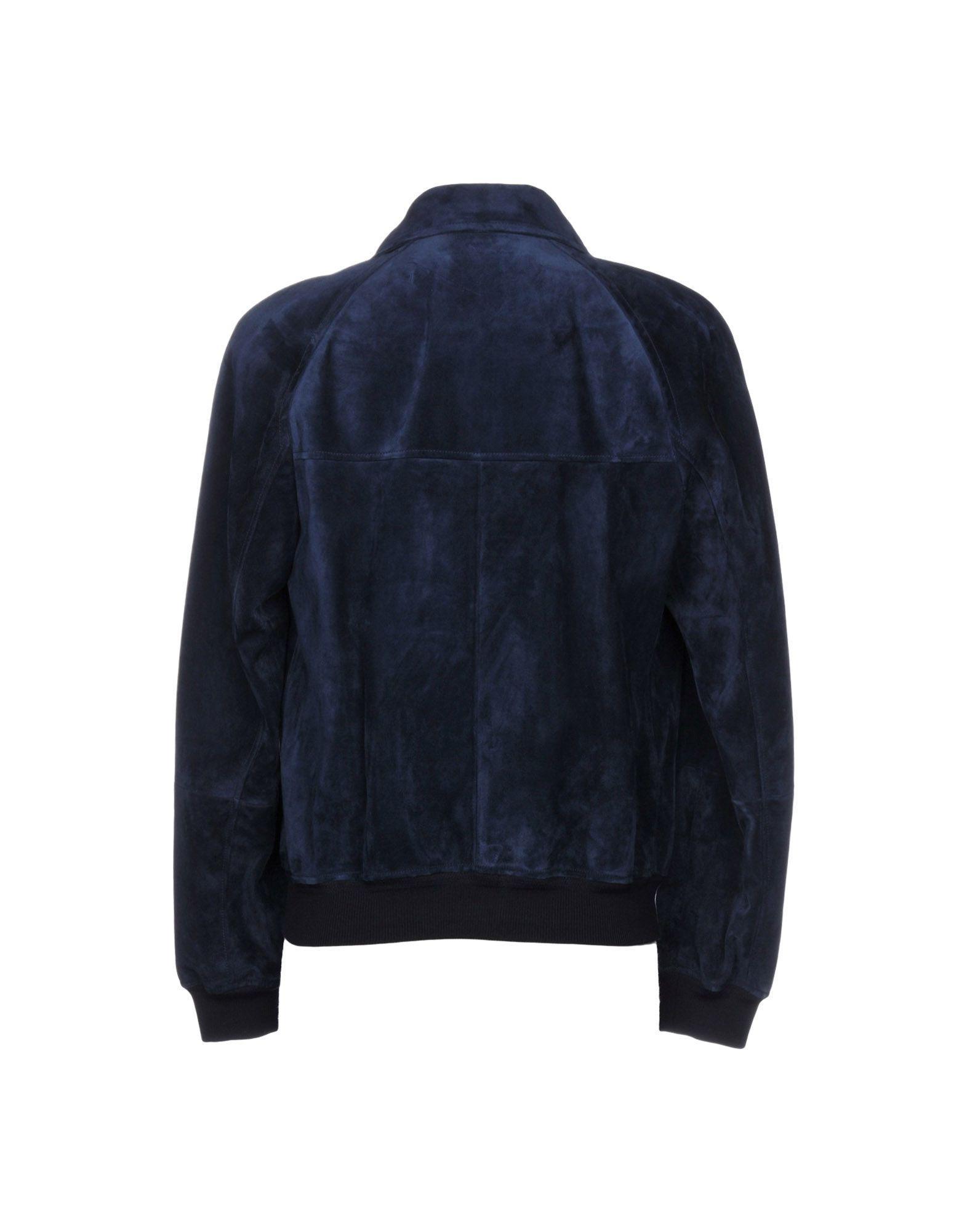 Tom Ford Leather Jacket in Dark Blue (Blue) for Men