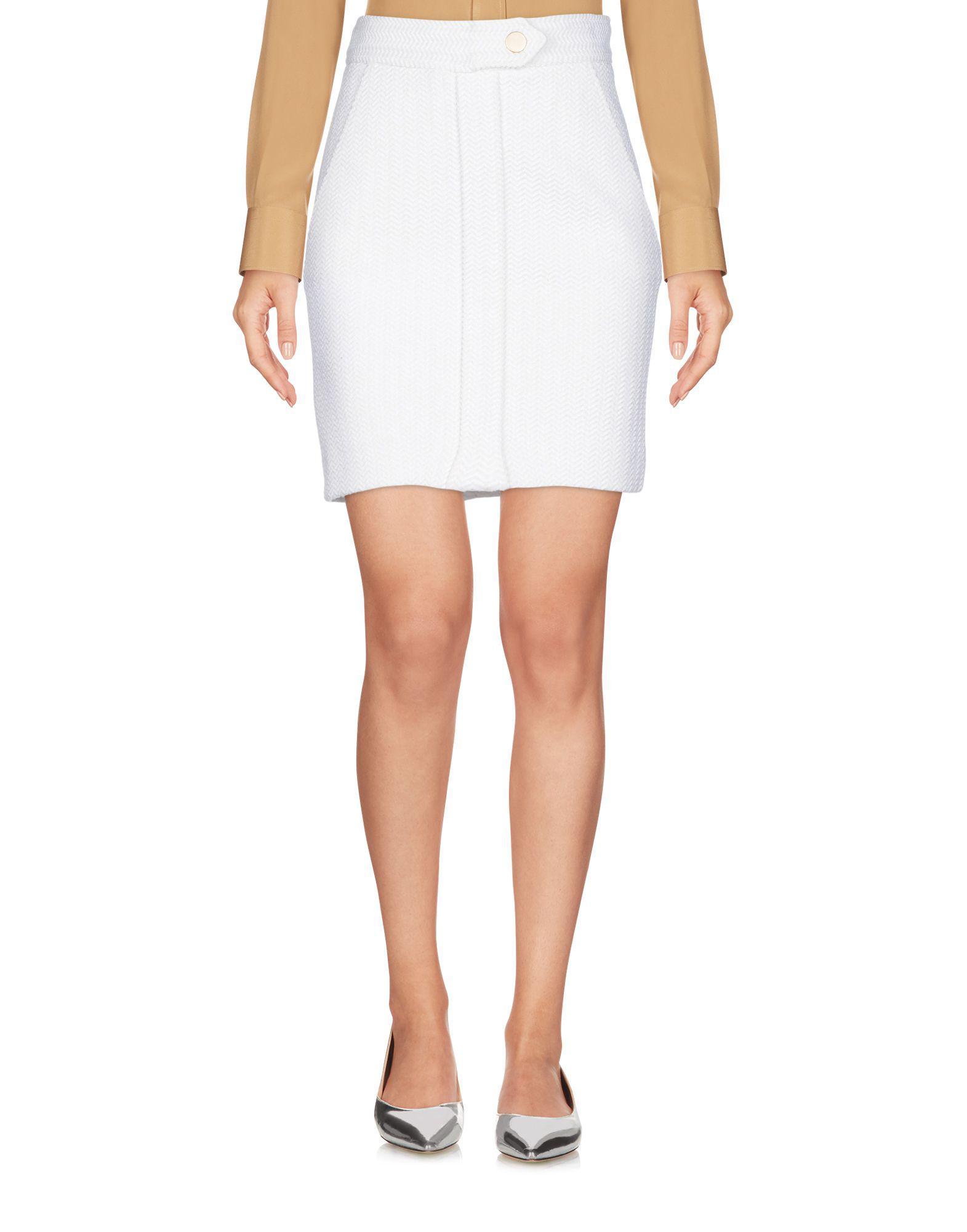 2b1d110d5a Lyst - Maje Mini Skirt in White