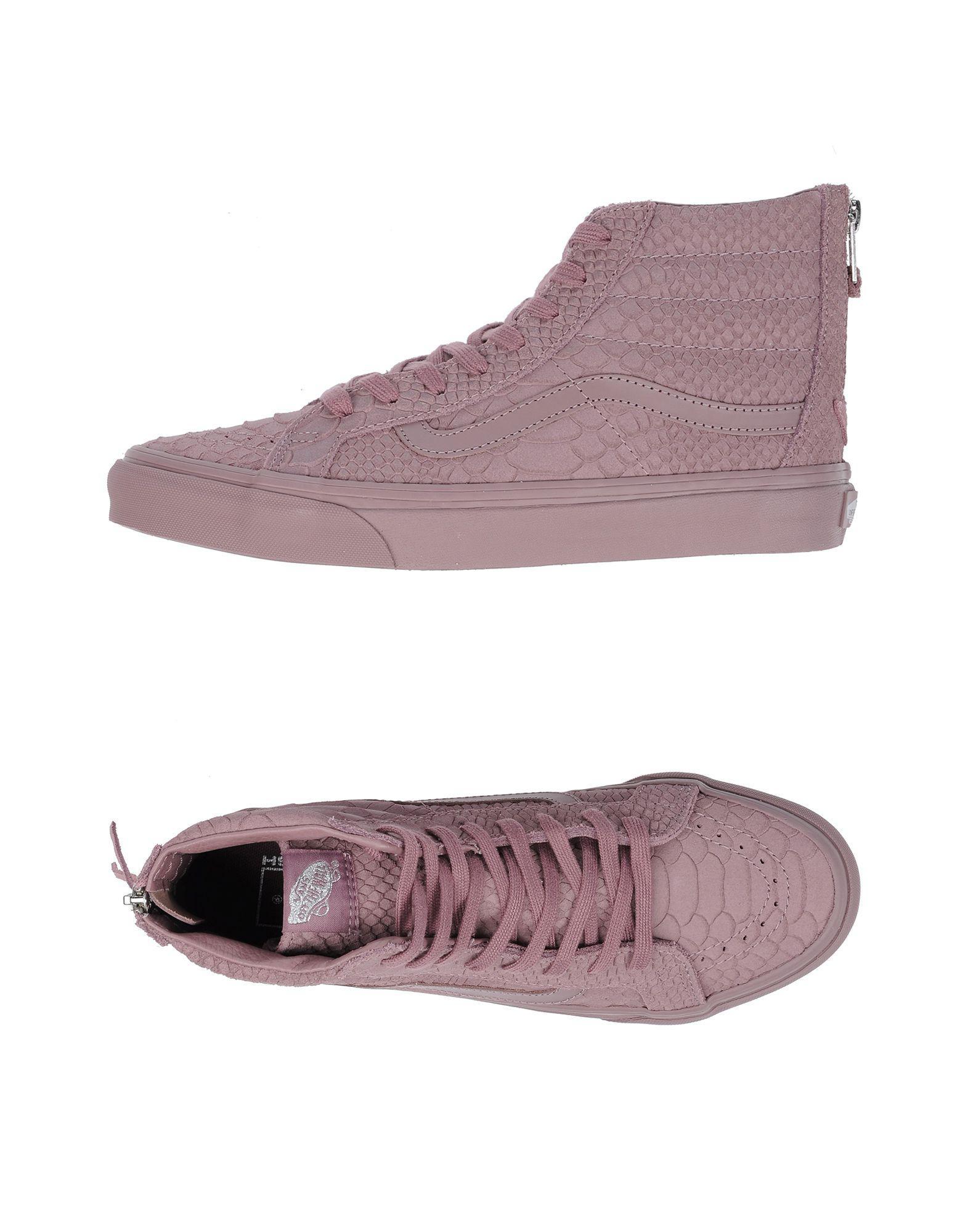 lyst vans hightops amp sneakers in purple