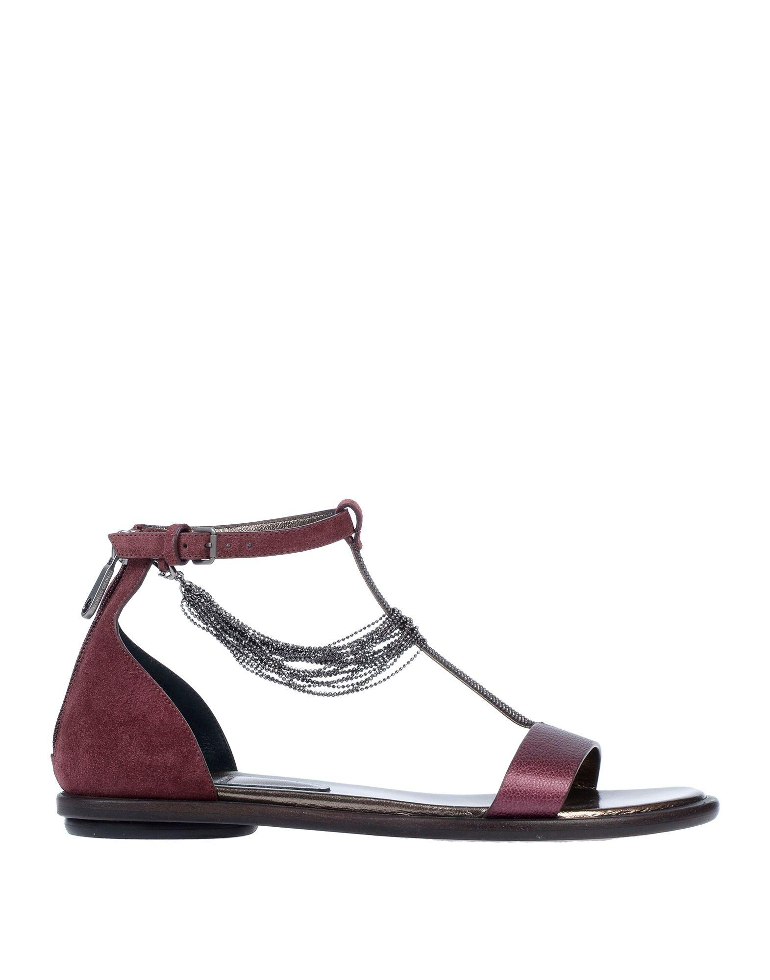 f43d22055db Lyst - Brunello Cucinelli Sandals in Purple