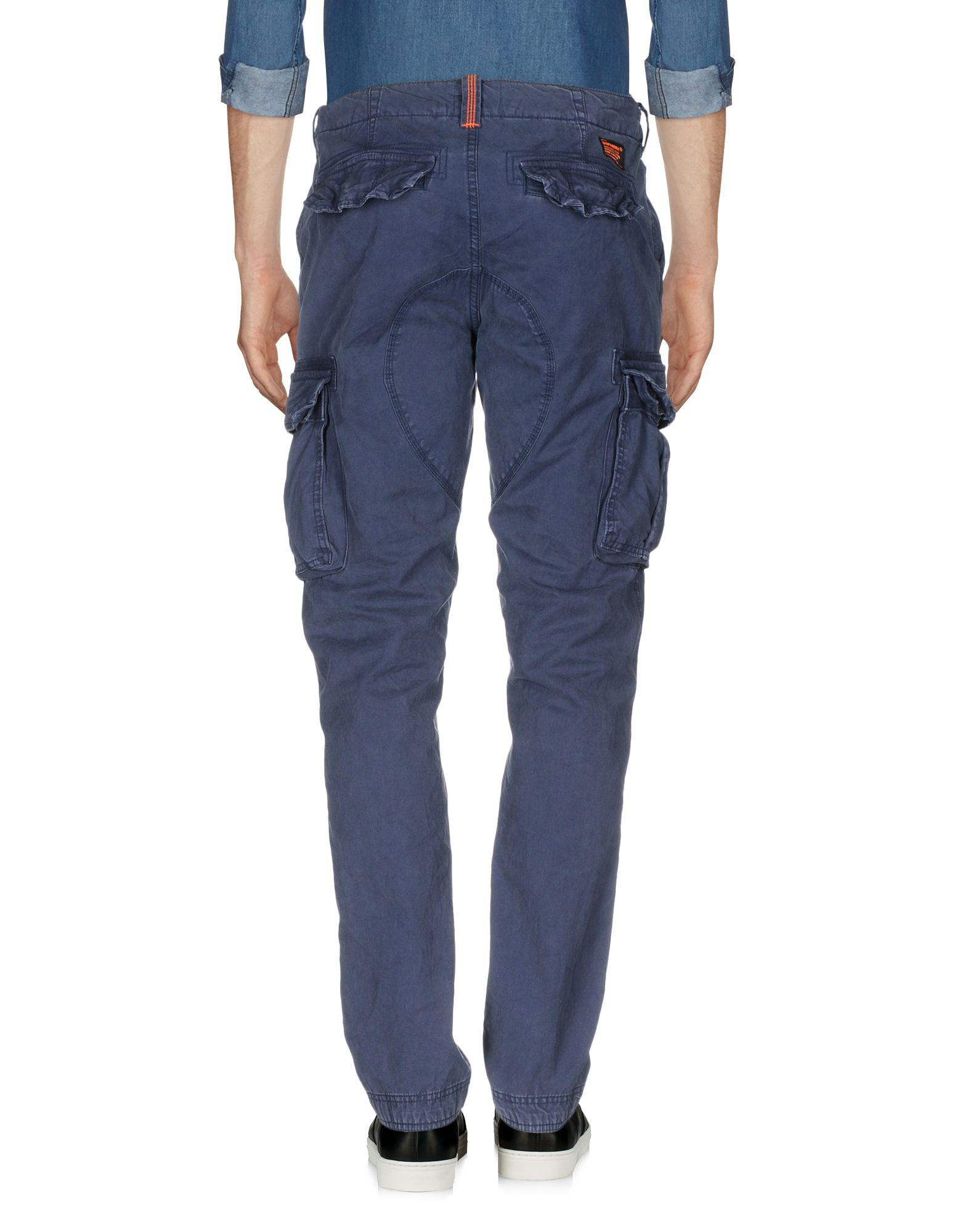 Superdry Cotton Casual Trouser in Dark Blue (Blue) for Men