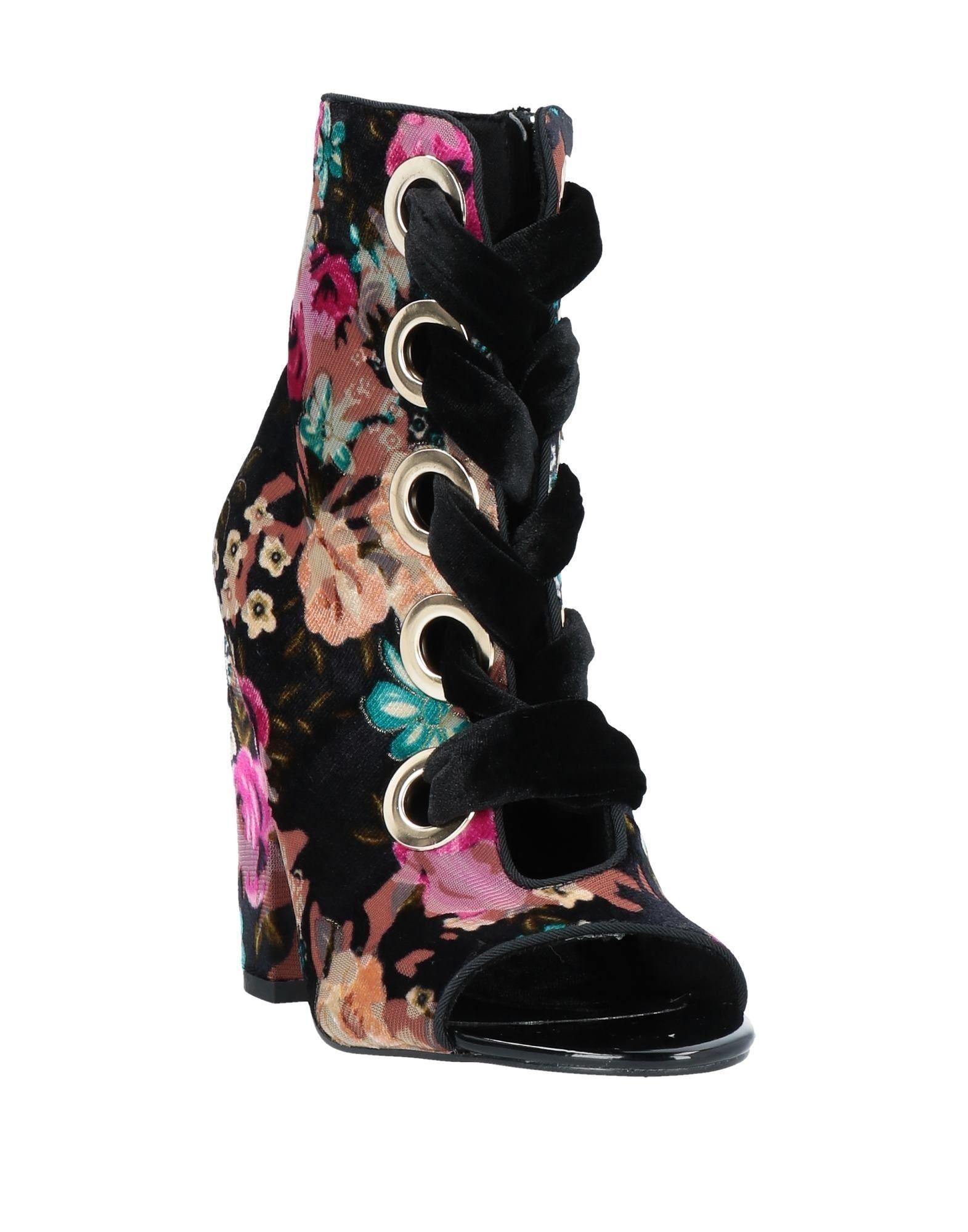 Botines de caña alta Privileged de Terciopelo de color Negro