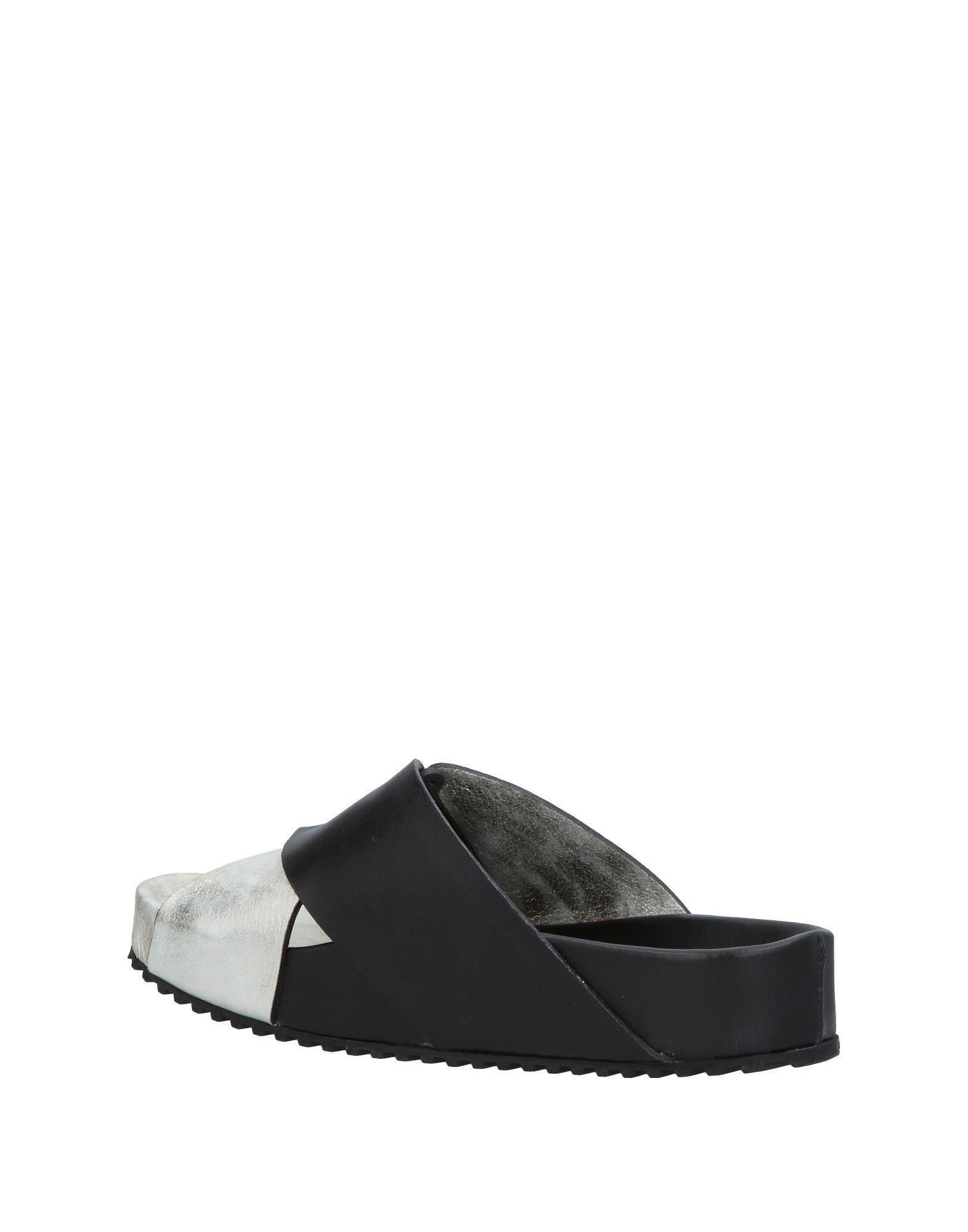 Sandales Cuir Leather Crown en coloris Métallisé