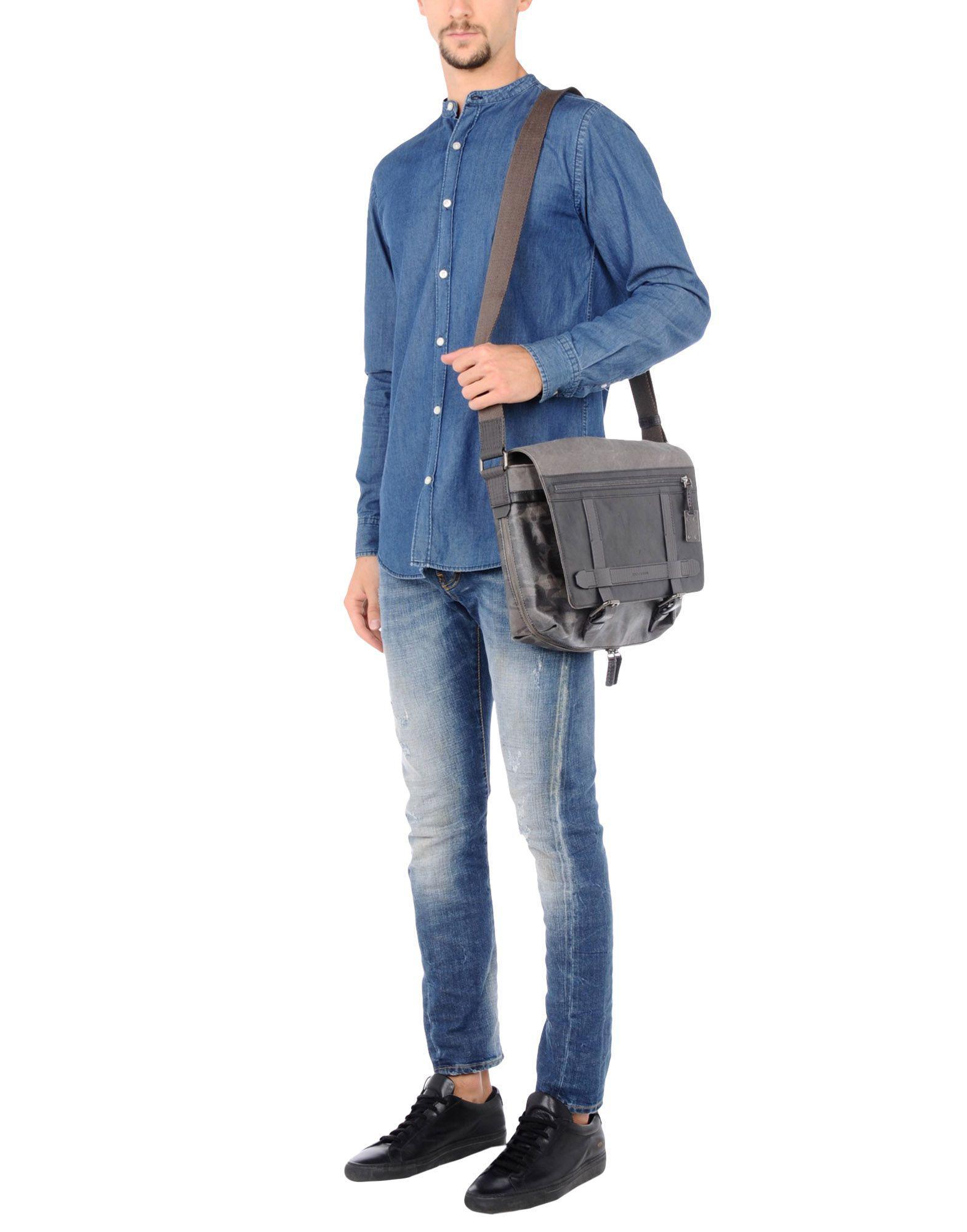 Dolce & Gabbana Leather Cross-body Bag in Lead (Grey) for Men