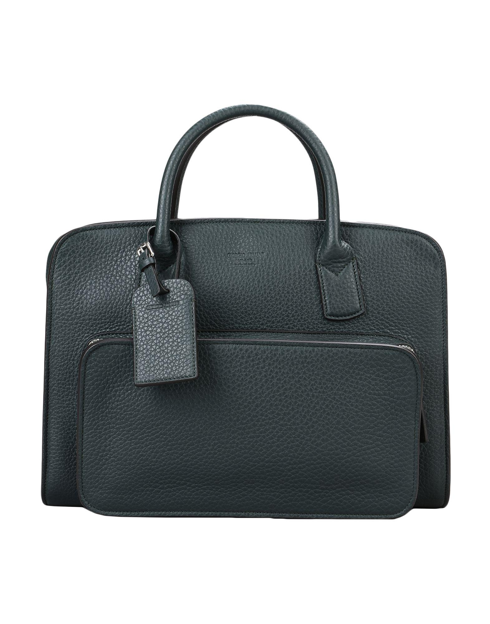 Lyst - Giorgio Armani Work Bags in Green for Men 1d27070557
